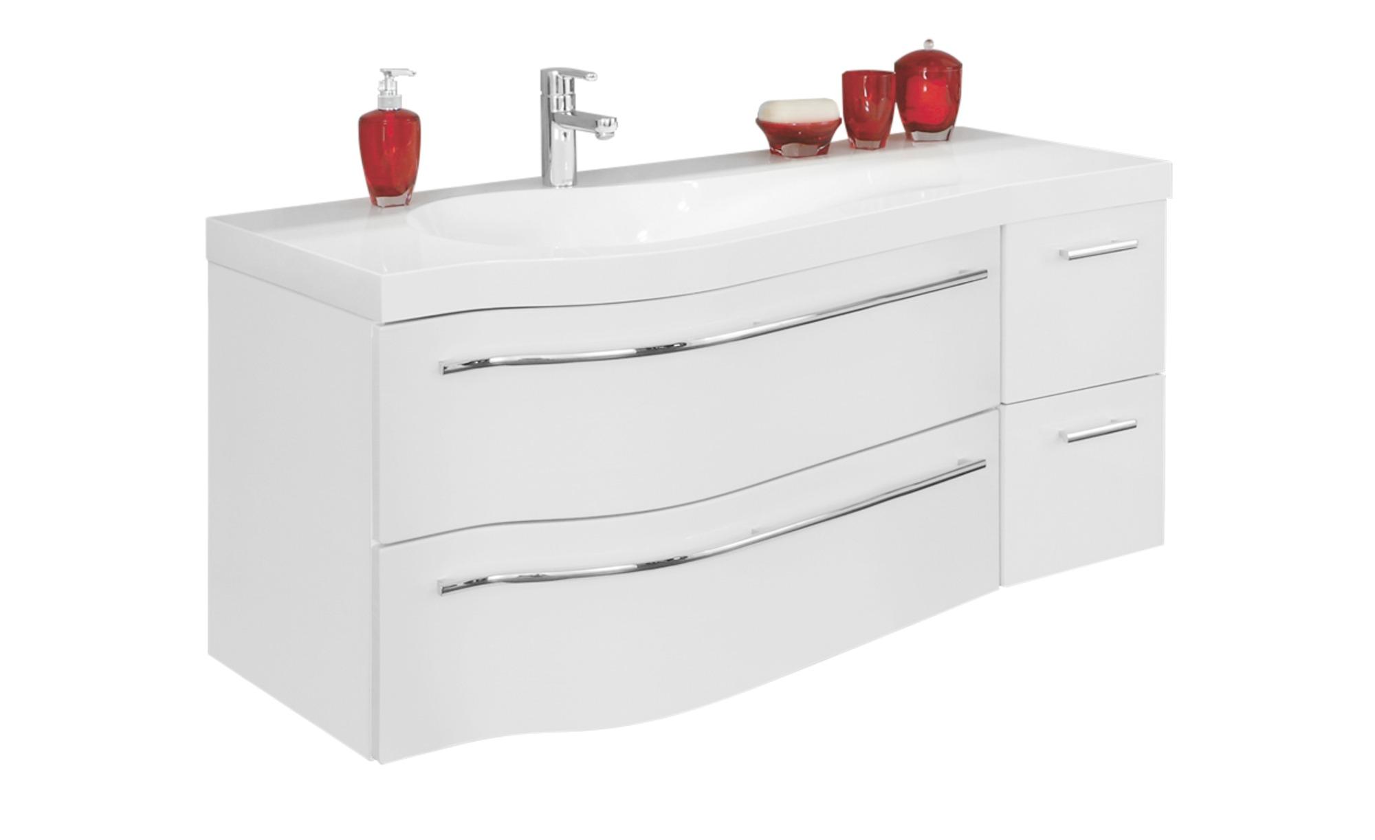 Waschtischkombination Schwielowsee ¦ weiß ¦ Maße (cm): B: 120,6 H: 49,5 T:  51,5 Schränke > Badschränke > Waschbecken-unterschränke - Höffner