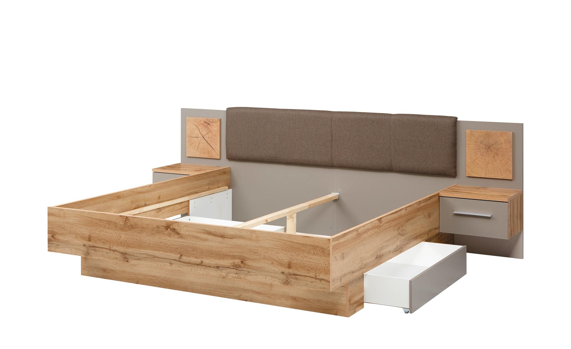 Uno Schlafzimmer 4 Teilig Mit Bettkasten Campus Wildeiche Basaltgrau