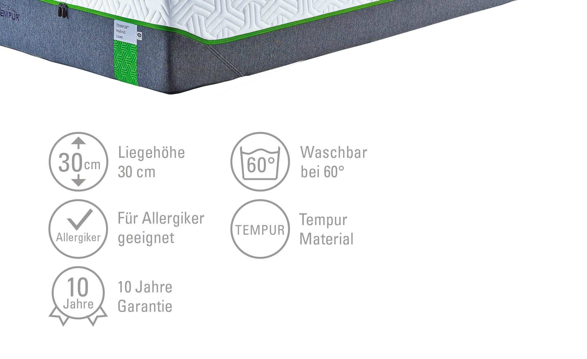 147edf3dbdf451 TEMPUR Matratze Hybrid Luxe