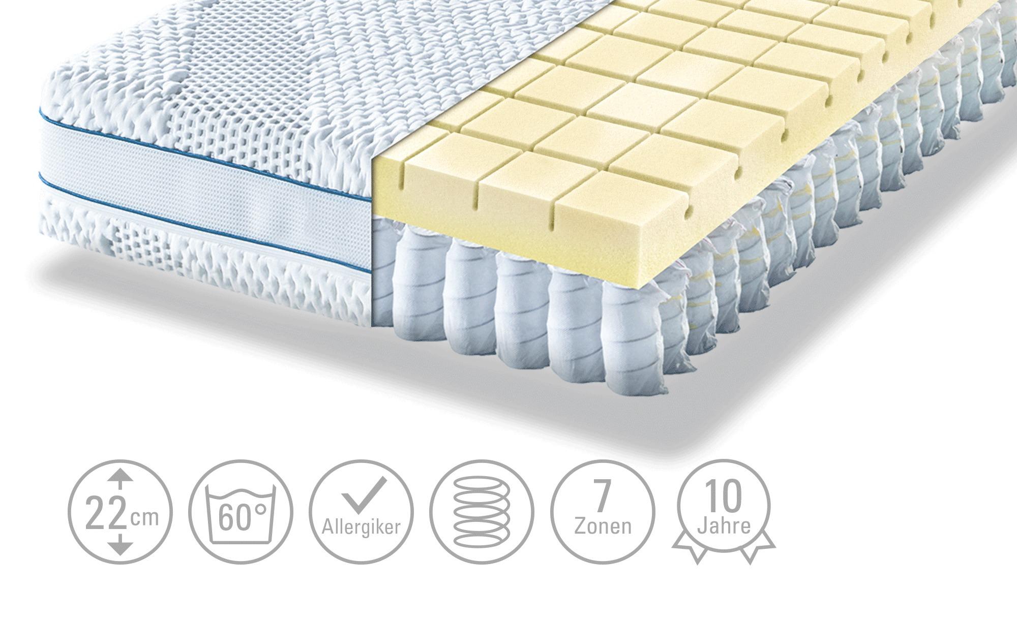 Möve Tonnentaschenfederkern - Matratze  Aqua Top T ¦ weiß Matratzen & Zubeh günstig online kaufen