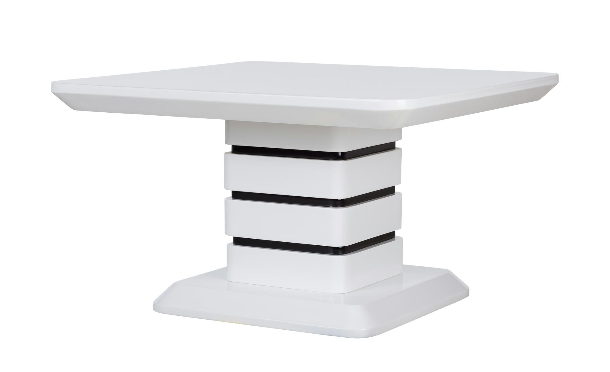 Couchtisch schwarz weiß eckig  Jutta ¦ weiß ¦ Maße (cm): B: 70 H: 42 T: 70 Tische > Couchtische > Couchtische rechteckig - Höffner