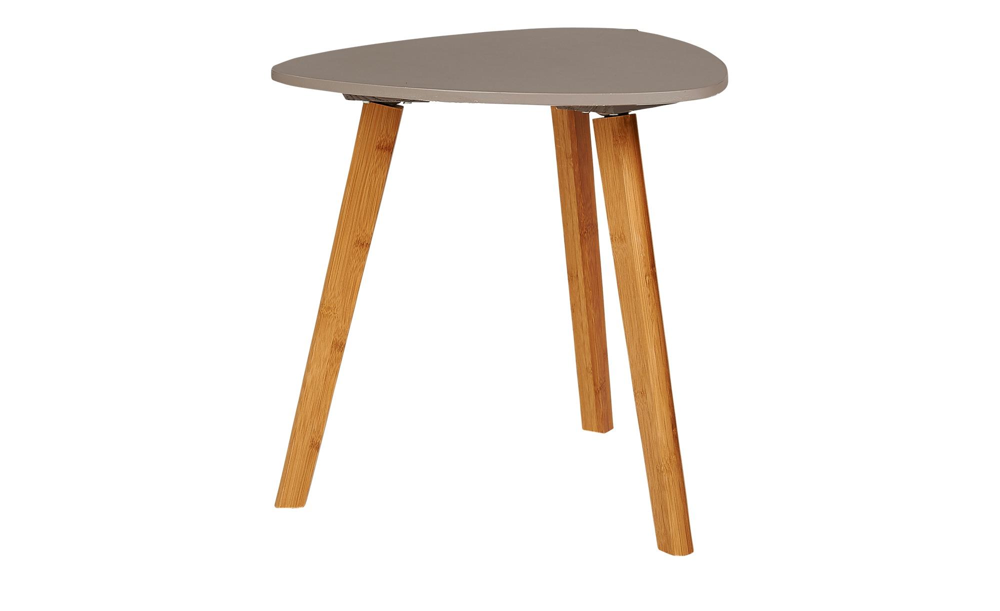 Beistelltisch  Bamboo ¦ grau ¦ Maße (cm): B: 40 H: 40 Tische > Beistelltische > Beistelltische ohne Rollen - Höffner