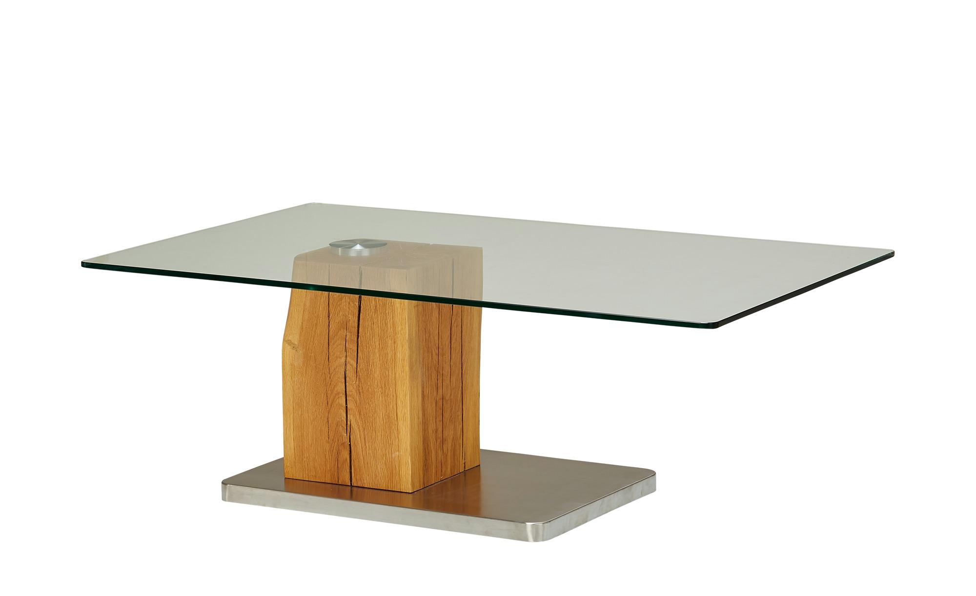 Couchtisch Holz Metall Glas  Piana ¦ holzfarben ¦ Maße (cm): B: 70 H: 40 Tische > Couchtische > Couchtische rechteckig - Höffner
