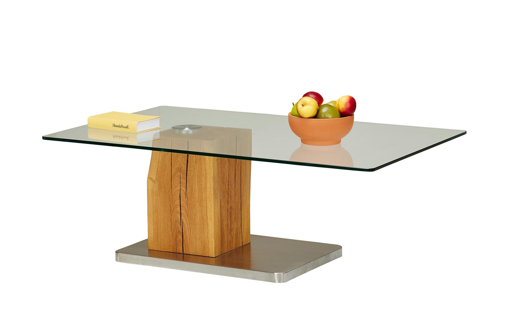 Couchtisch Holz Metall Glas Piana, gefunden bei Möbel Höffner