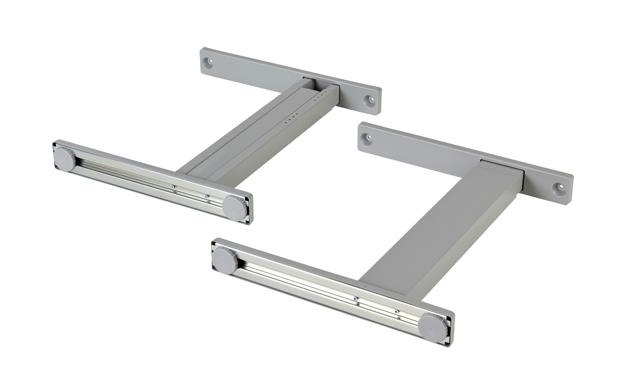 Fußpaar  Rhein ¦ grau Tische > Tischbeine - Höffner   Wohnzimmer > Tische > Weitere Tische   Grau   Metall   Möbel Höffner DE