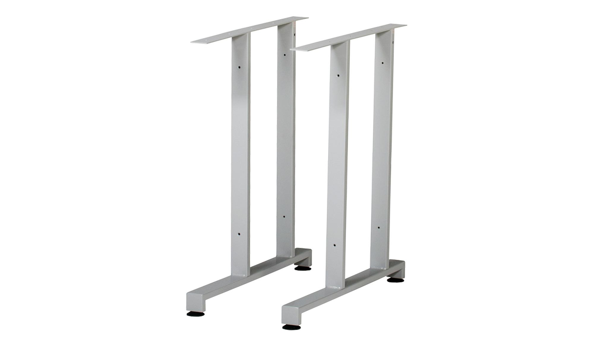 Metallfüße 2er-Set  Success ¦ silber ¦ Maße (cm): H: 75 Tische > Tischbeine - Höffner | Wohnzimmer > Tische > Weitere Tische | Silber | Metall | Möbel Höffner DE