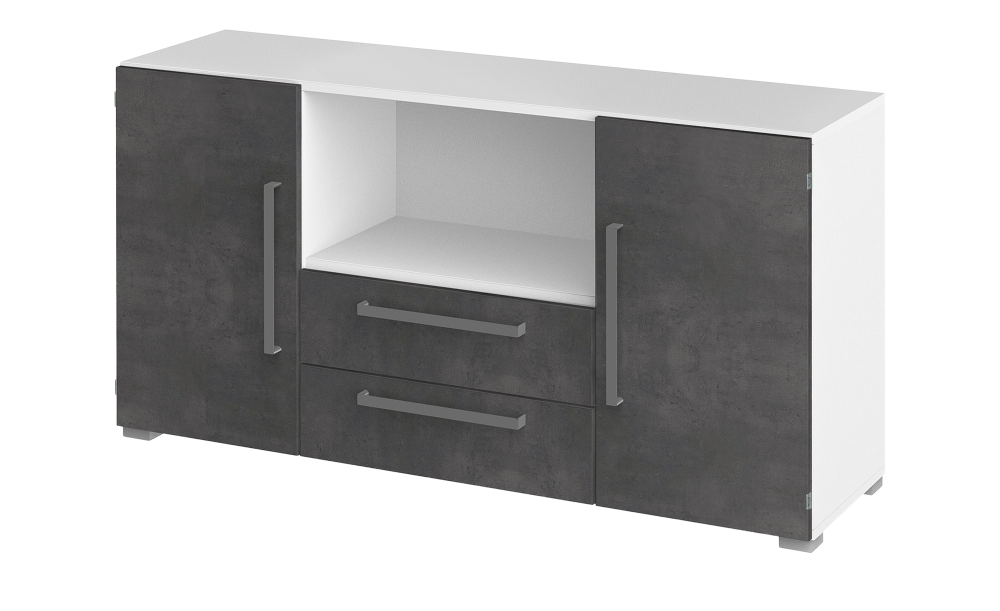 Sideboard  Objekt plus ¦ grau ¦ Maße (cm): B: 140 H: 74,5 T: 41,9 Kommoden & Sideboards > Sideboards - Höffner