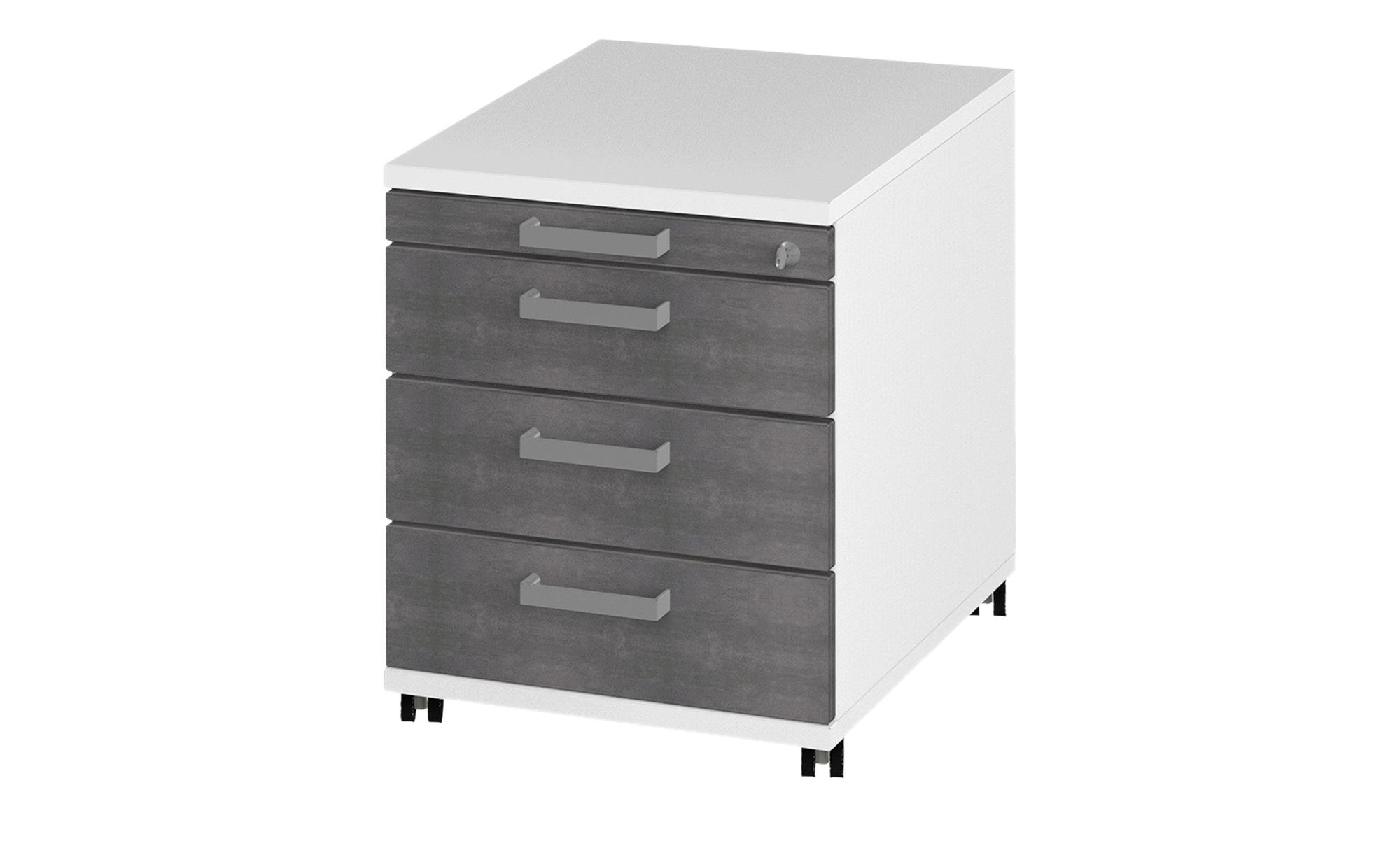 Rollcontainer  Objekt plus ¦ grau ¦ Maße (cm): B: 43,1 H: 53,7 T: 57,7 Schränke > Rollcontainer - Höffner