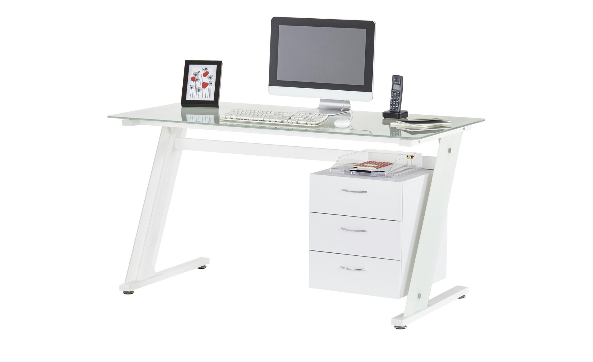 Computertisch  Wesenitz ¦ weiß ¦ Maße (cm): B: 140 H: 75,5 T: 70 Tische > Computertische - Höffner