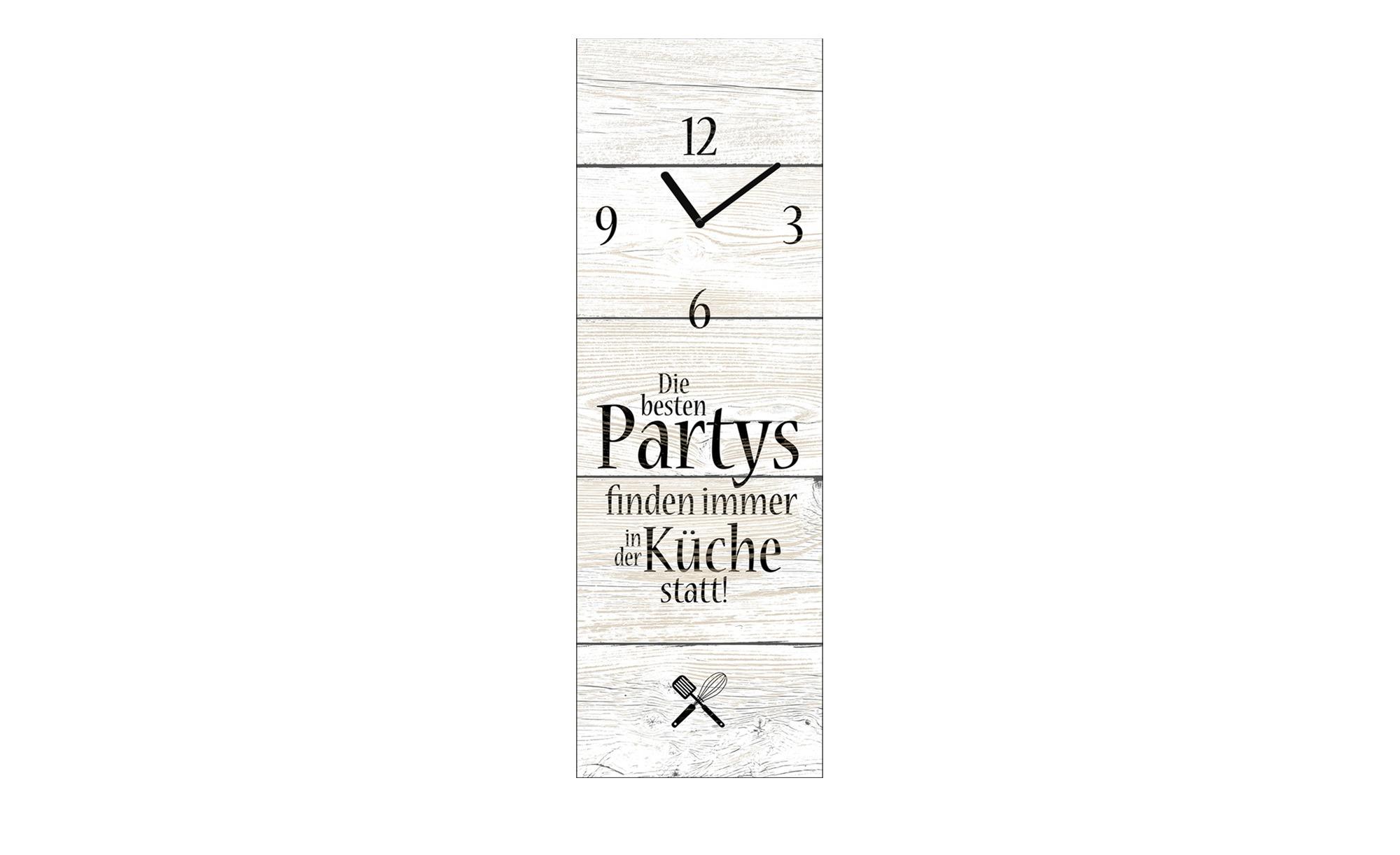 Glasuhr Die besten Partys  Time-Art ¦ grau ¦ Maße (cm): B: 20 H: 60 Dekoration > Bilder & Schilder - Höffner | Dekoration > Uhren > Wanduhren | Grau | Glas | Möbel Höffner DE