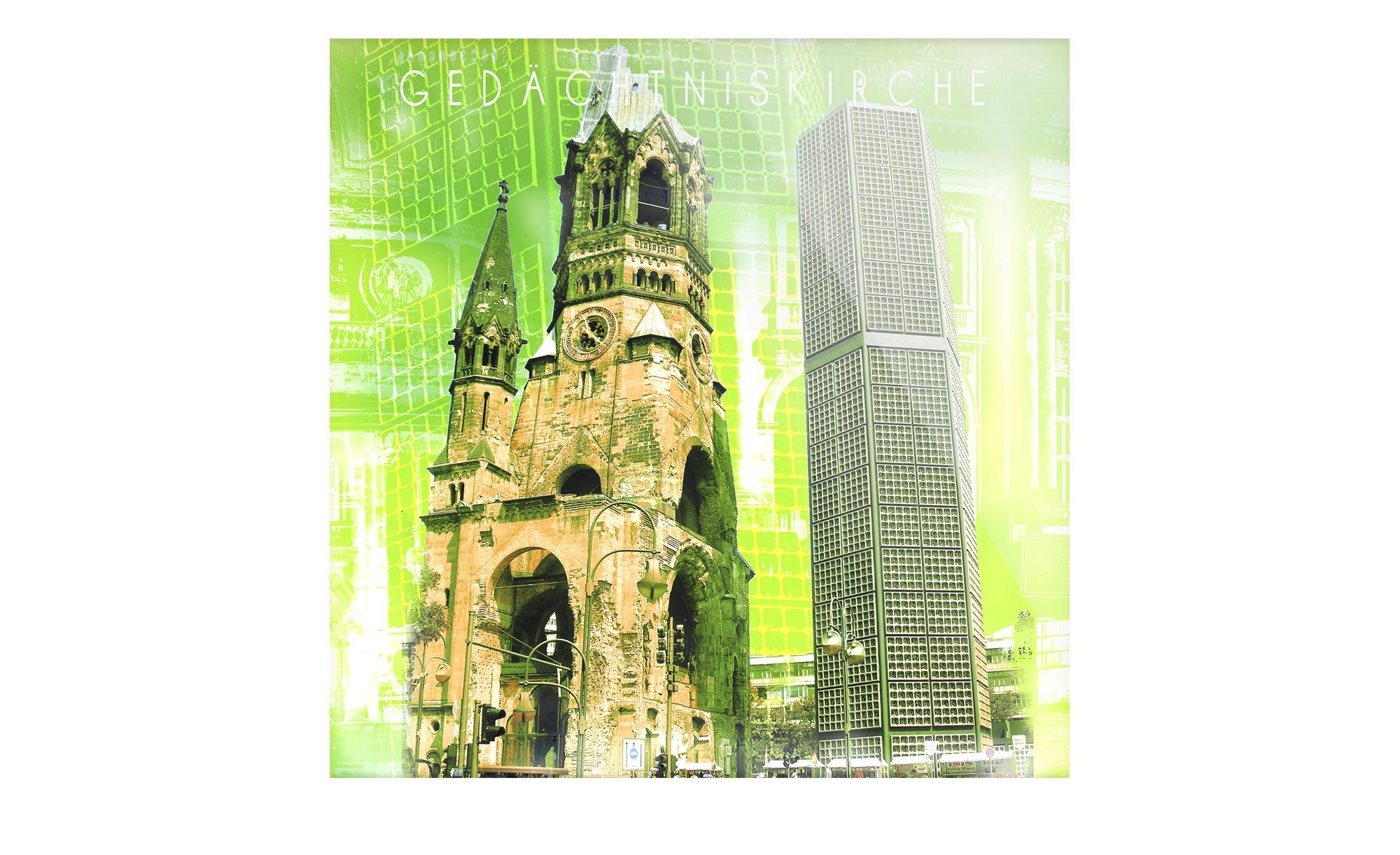 Stadtansicht als Glasbild