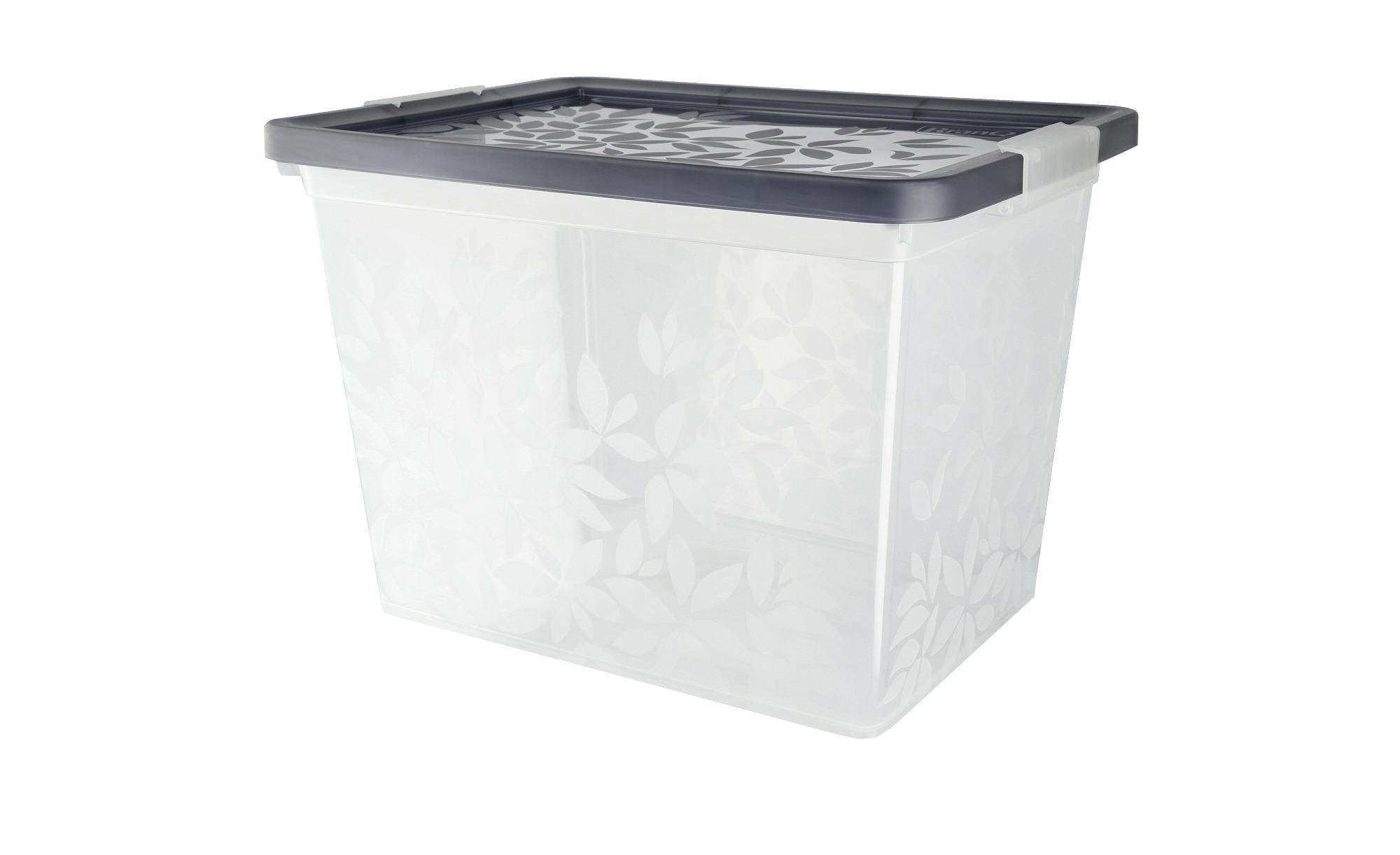 Aufbewahrungsbox mit Deckel  Yasmin ¦ grau ¦ Kunststoff Aufbewahrung > Aufbewahrungsboxen > sonstige Aufbewahrungsmittel - Höffner