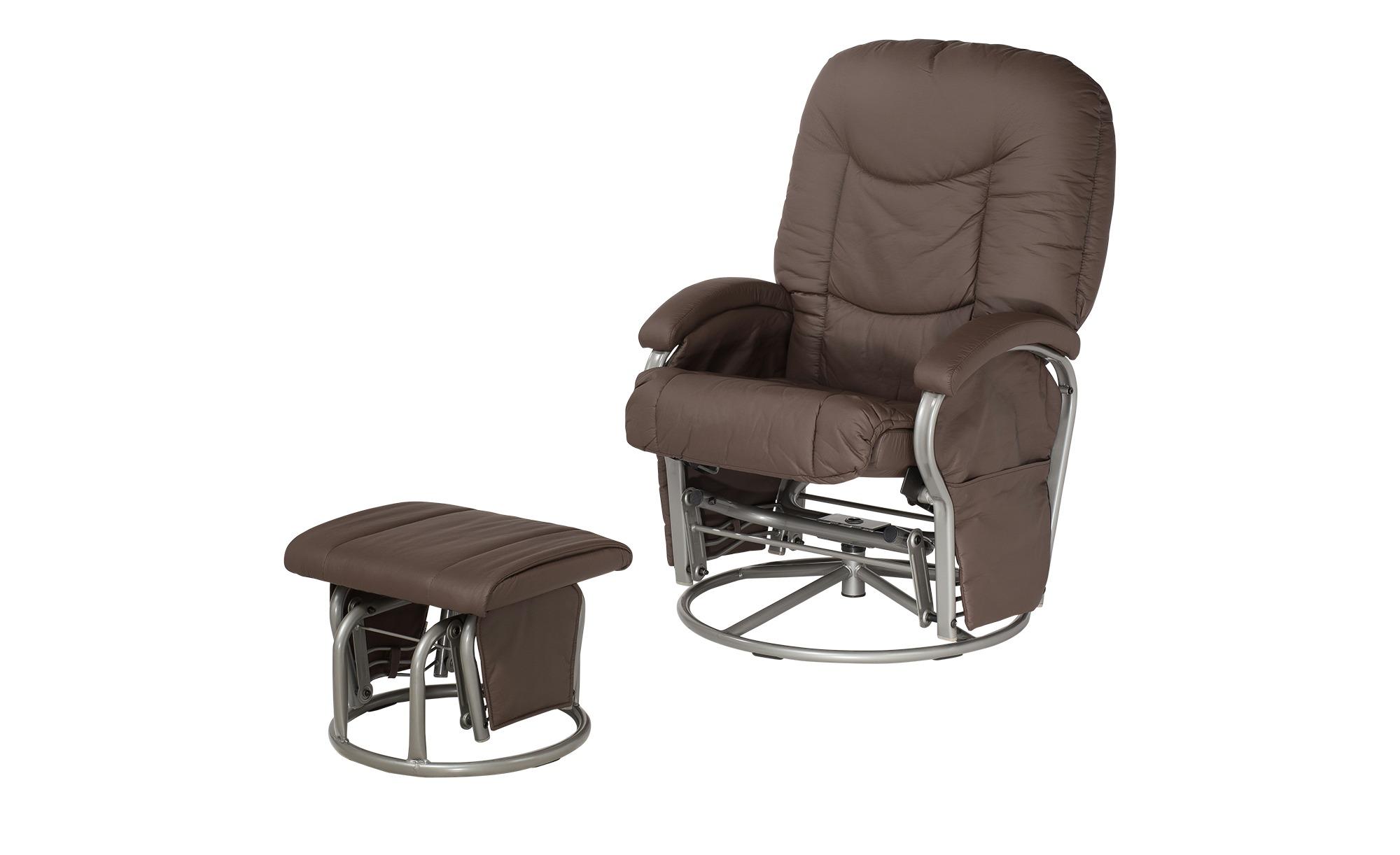 Hauck Still- und Entspannungsstuhl braun - Kunstleder Glider ¦ braun ¦ Maße (cm): B: 72 H: 102 Polstermöbel > Sessel > Drehsessel - Höffner