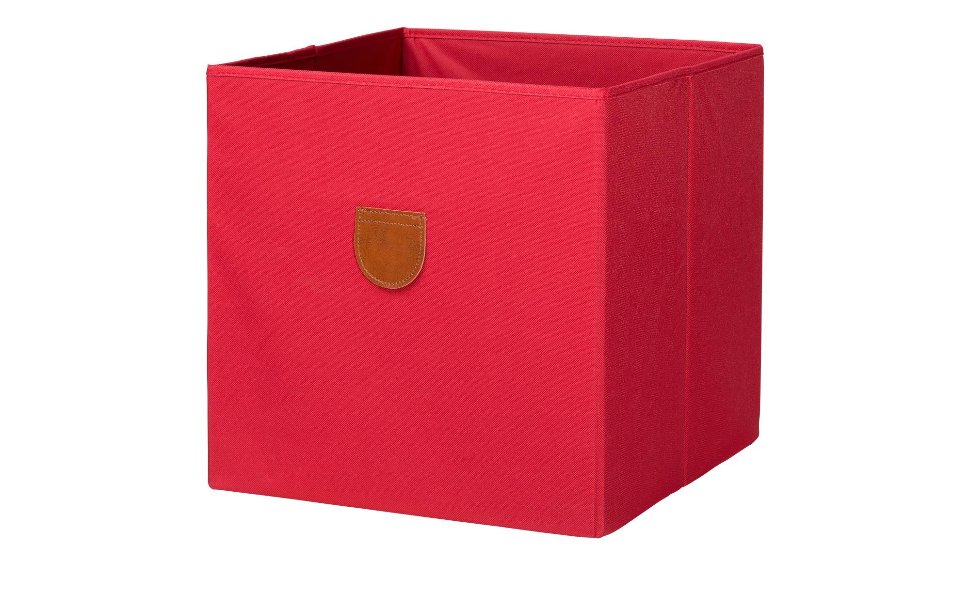 Regalbox ¦ rot ¦ Pappe, Polyester ¦ Maße (cm): B: 34 H: 34 T: 34 Regale > Regal-Aufbewahrungsboxen - Höffner