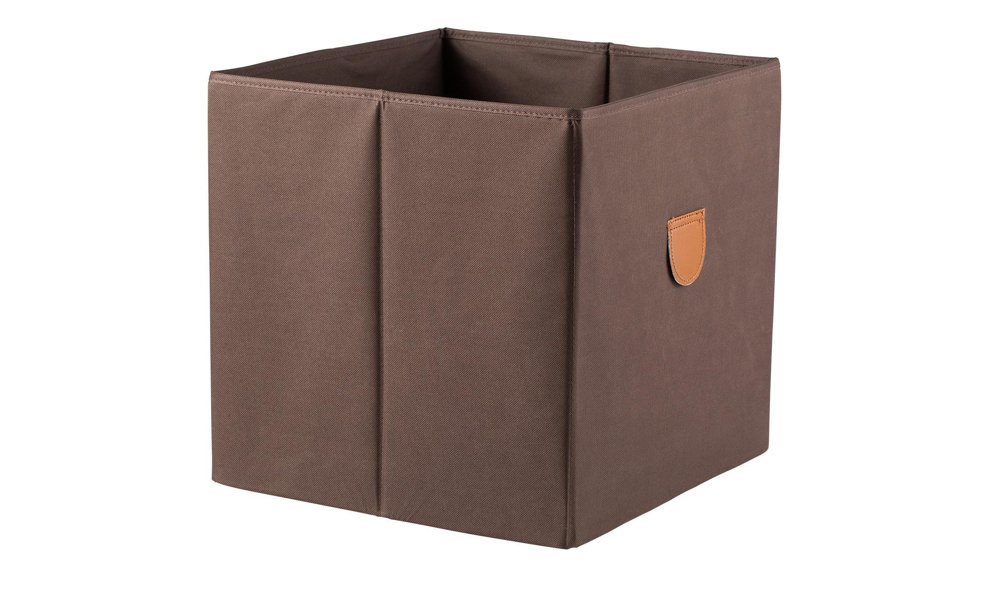 Regalbox ¦ braun ¦ Pappe, Polyester ¦ Maße (cm): B: 34 H: 34 T: 34 Regale > Regal-Aufbewahrungsboxen - Höffner