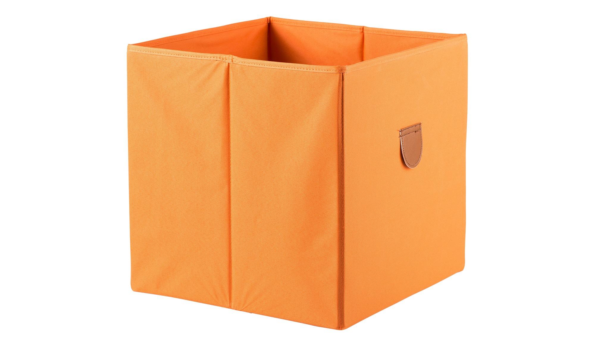 Regalbox ¦ orange ¦ Pappe, Polyester ¦ Maße (cm): B: 34 H: 34 T: 34 Regale > Regal-Aufbewahrungsboxen - Höffner