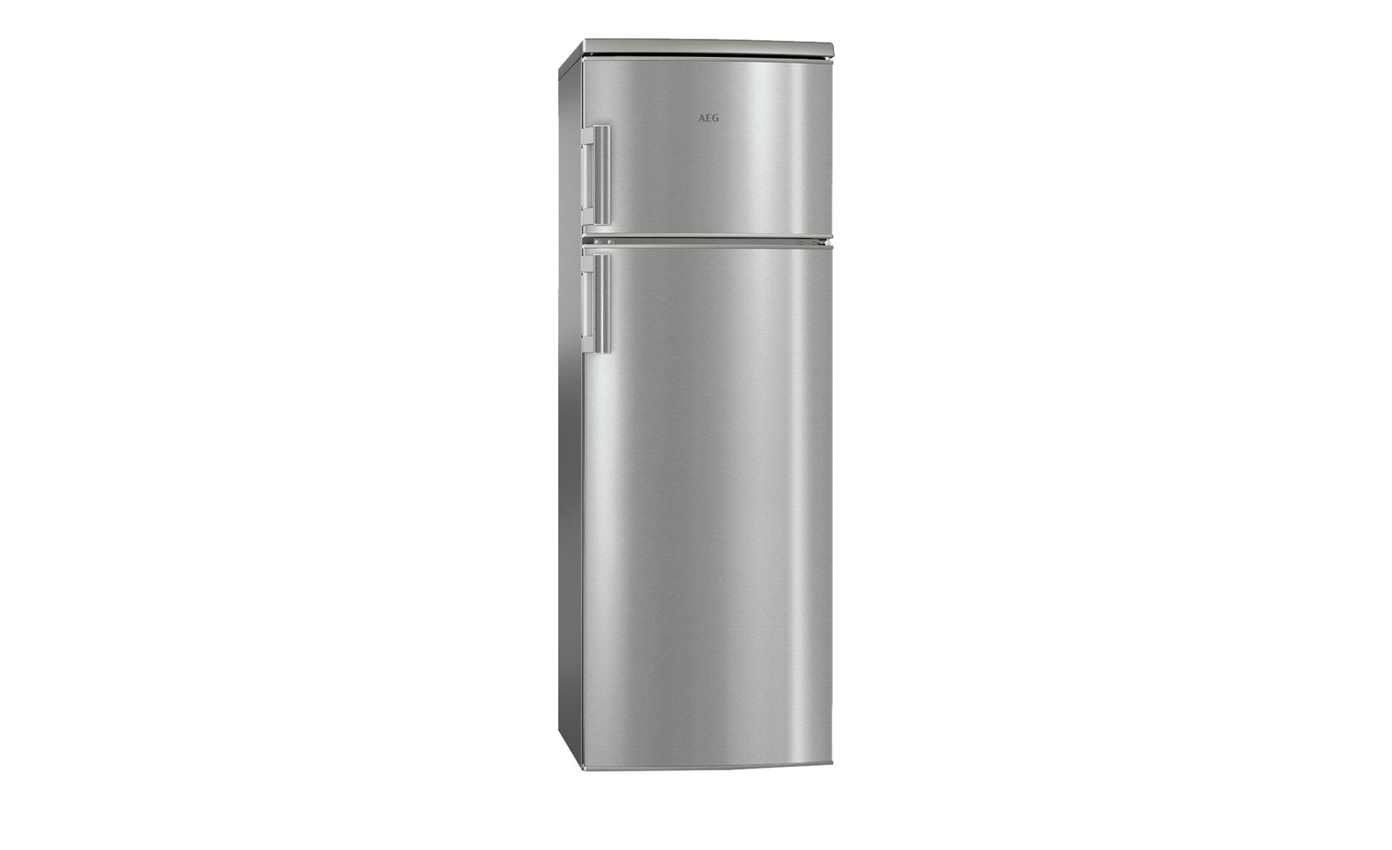 AEG Kuhl Gefrier Kombination RDB72321AX Silber Glas Metall Lackiert Kunststoff Masse Cm B 545 H 1404 T 604 Elektrogerate