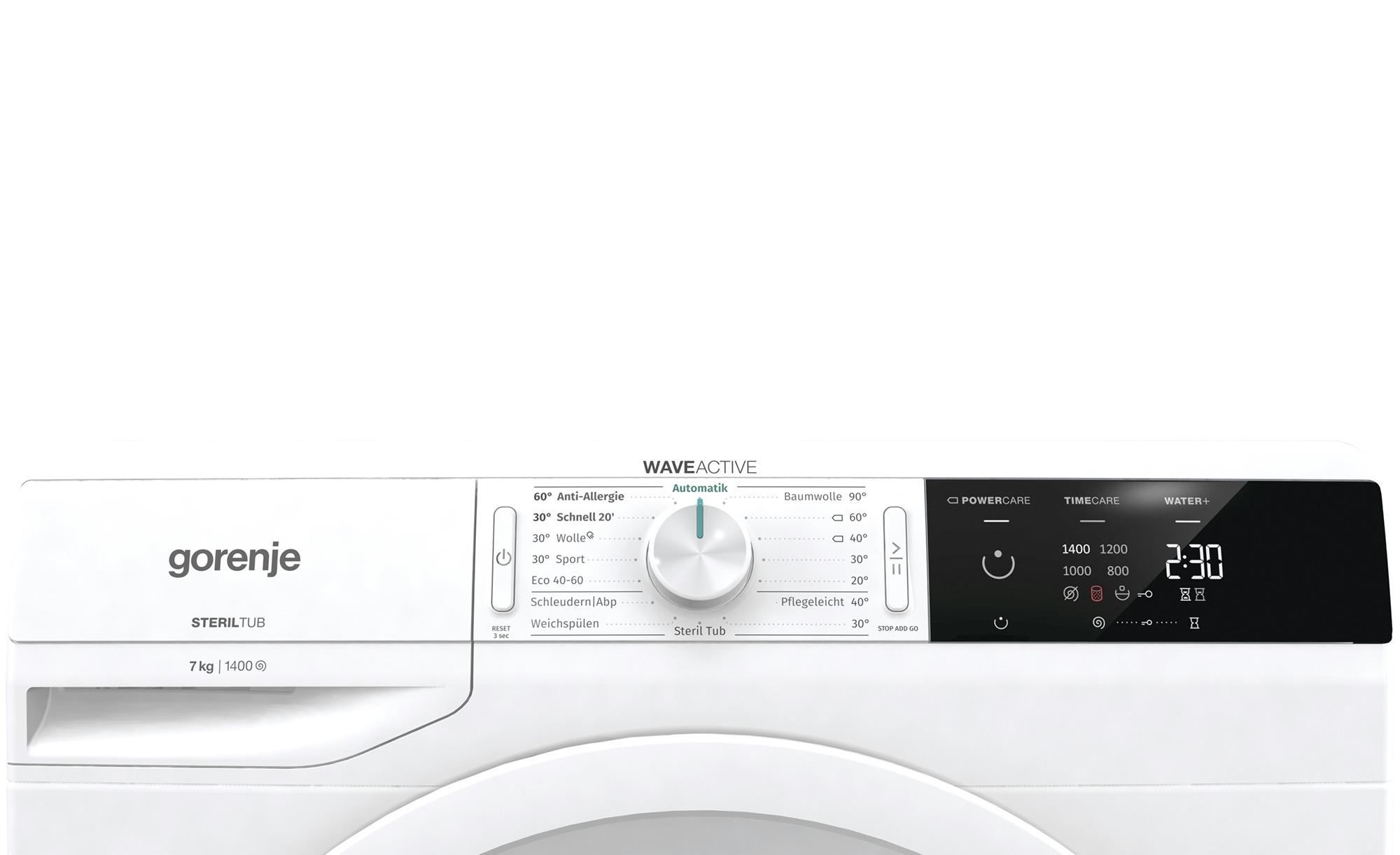 gorenje Waschvollautomat  WE74S3P ¦ weiß ¦ Kunststoff, Metall-lackiert, Glas  ¦ Maße (cm): B: 60 H: 85 T: 46,5 Elektrogeräte > Waschmaschinen - Höffner