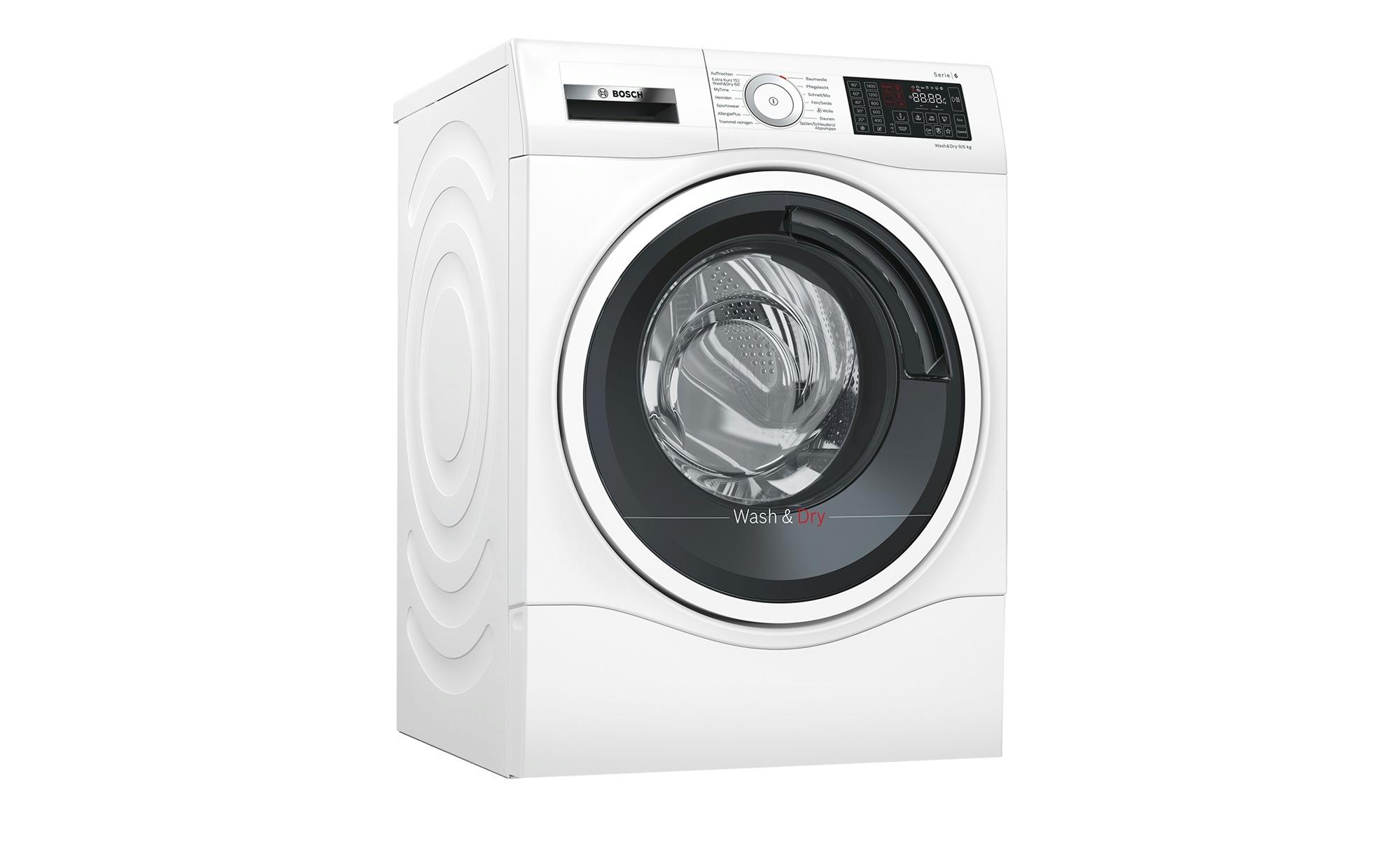 BOSCH Waschtrockner  WDU28540 ¦ weiß ¦ Maße (cm): B: 59,8 H: 84,8 T: 62 Elektrogeräte > Waschtrockner - Höffner | Bad > Waschmaschinen und Trockner > Waschtrockner | Weiß | Möbel Höffner DE
