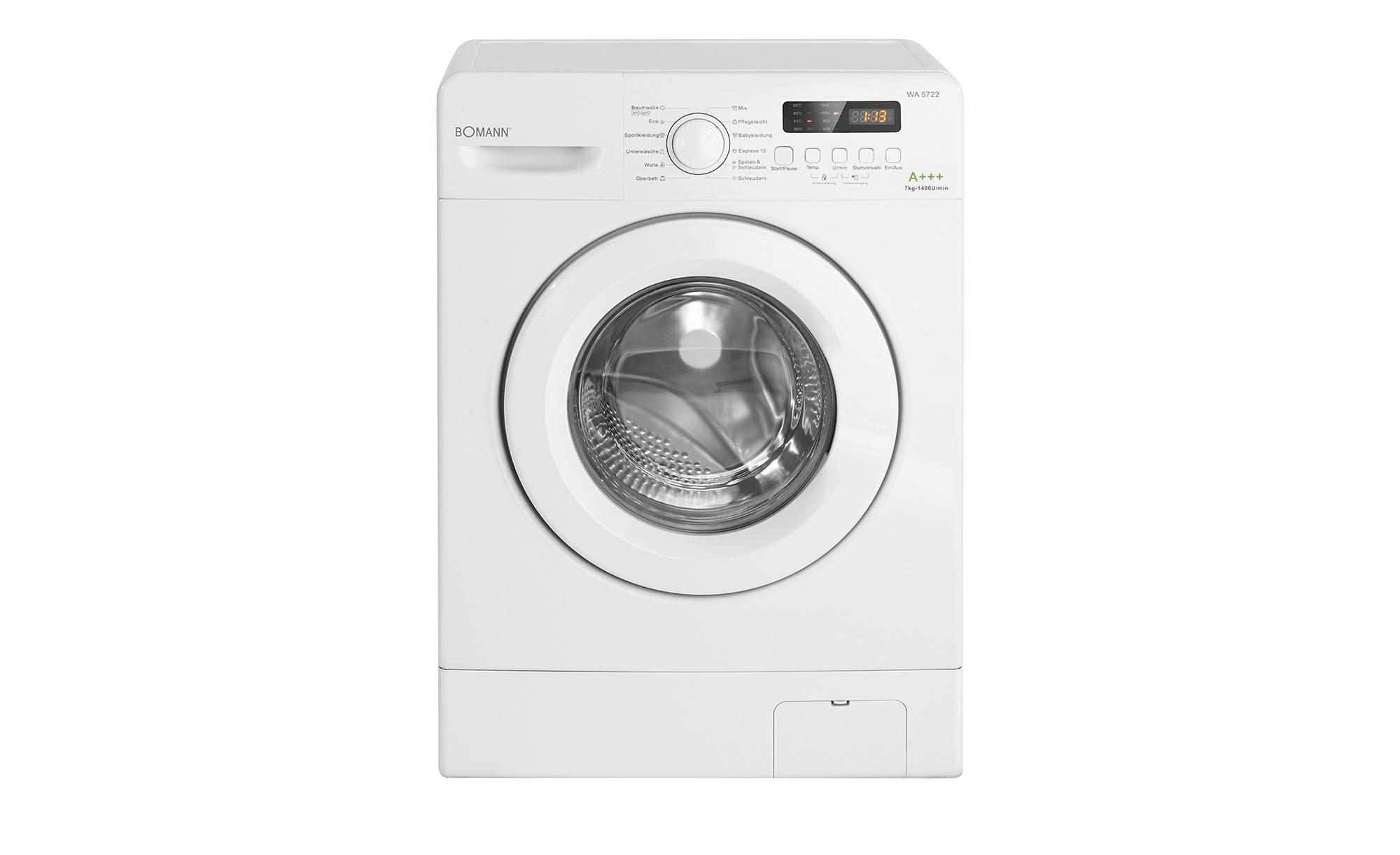 Bomann Waschvollautomat   WA 5722 ¦ weiß ¦ Maße (cm): B: 59,5 H: 85 T: 48 Elektrogeräte > Waschmaschinen - Höffner