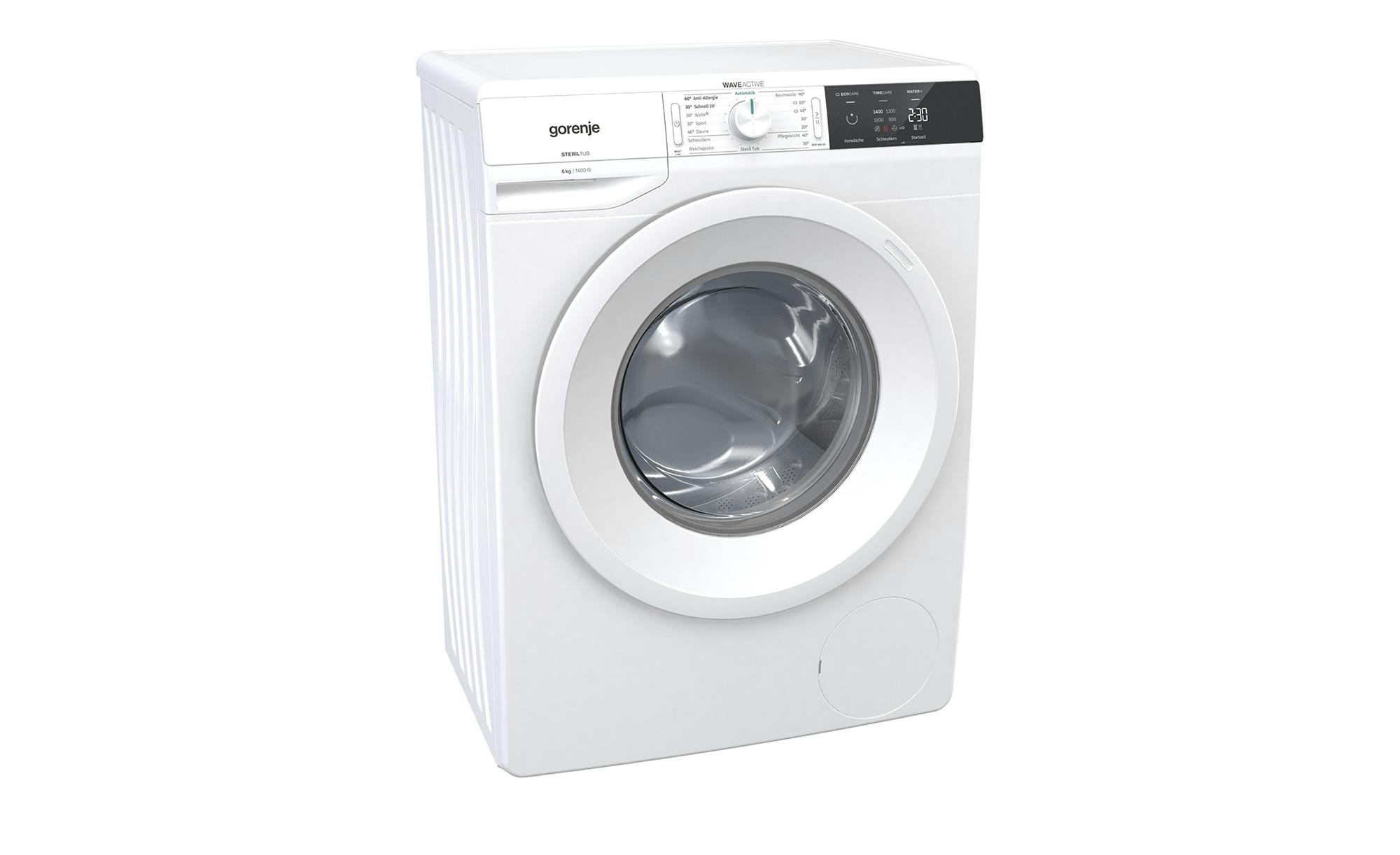 gorenje Waschvollautomat  WE64S3P ¦ weiß ¦ Glas , Kunststoff, Metall-lackiert ¦ Maße (cm): B: 60 H: 85 T: 43 Elektrogeräte > Waschmaschinen - Höffner