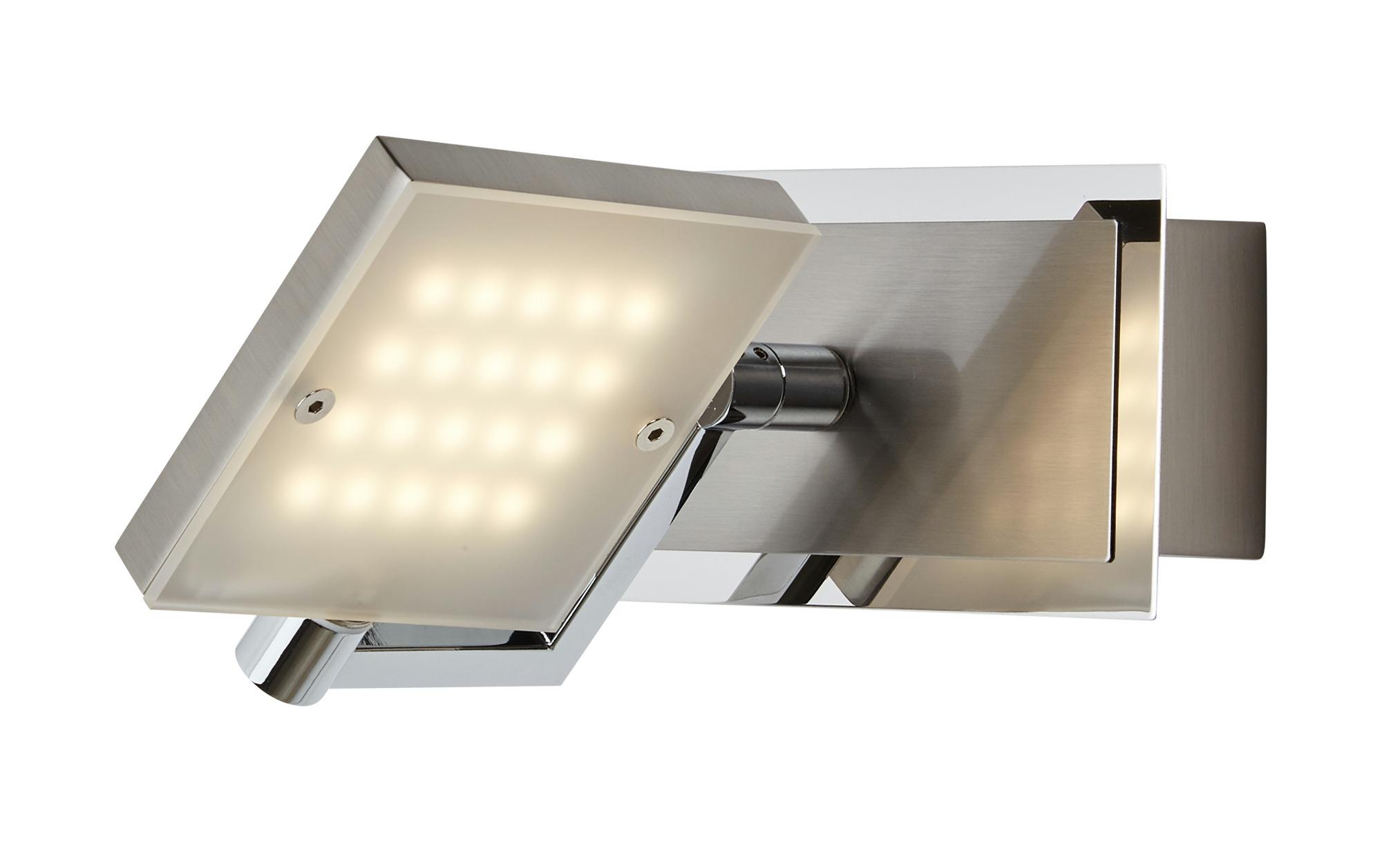 Fischer-Honsel LED- Strahler, 1-flammig, nickel matt, mehrfach verstellbar ¦ silber ¦ Maße (cm): B: 9,5 Lampen & Leuchten > Innenleuchten > Wandleuchten - Höffner