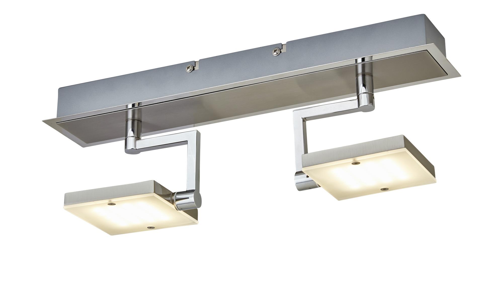 Fischer-Honsel LED- Deckenstrahler, 2-flammig, nickel matt, Köpfe eckig ¦ silber ¦ Maße (cm): B: 9,5 H: 17,5 Lampen & Leuchten > LED-Leuchten > LED-Strahler & Spots - Höffner