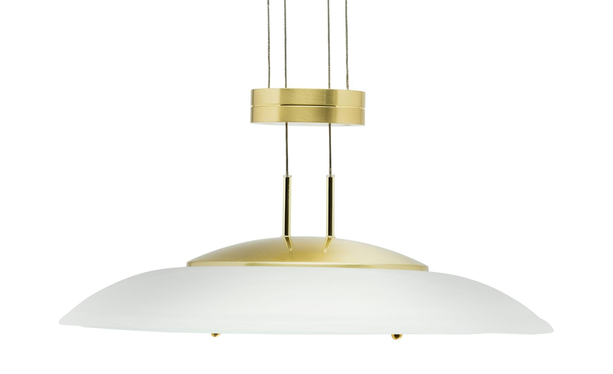 LED-Pendelleuchte mit Schirm aus Milchglas ¦ goldØ: [42.0] Lampen & Leuchten > LED-Leuchten > LED-Pendelleuchten - Höffner
