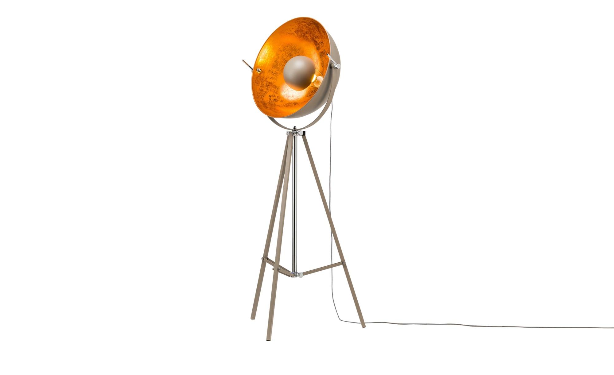 HOME STORY Stehleuchte im Studiolampen-Design, grau ¦ grau ¦ Maße (cm): B: 60 H: 166 Lampen & Leuchten > Innenleuchten > Stehlampen - Höffner