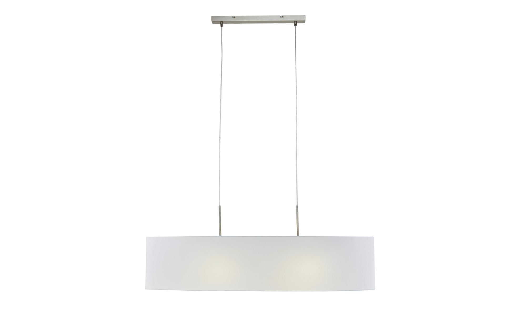 Pendelleuchte, 1-flammig, Schirm weiß, oval ¦ weiß ¦ Maße (cm): B: 32 Lampen & Leuchten > Innenleuchten > Pendelleuchten - Höffner