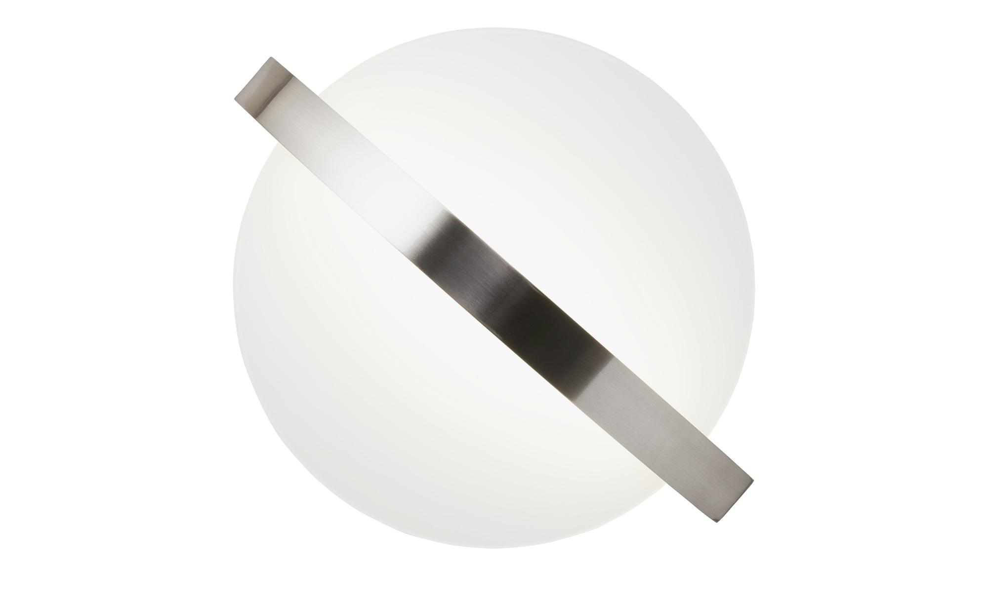 Wofi LED Deckenleuchte runde Glasblende ¦ silber ¦ Maße (cm): H: 13,5 Ø: [50.0] Lampen & Leuchten > Innenleuchten > Deckenleuchten - Höffner