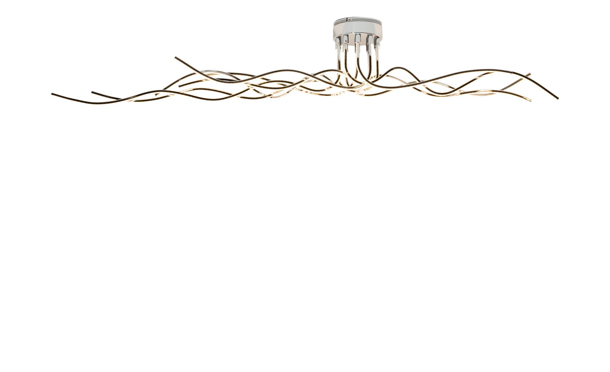 Wofi LED Deckenleuchte Chrom-Arme wellenform ¦ silber ¦ Maße (cm): B: 150 H: 20 Lampen & Leuchten > Innenleuchten > Deckenleuchten - Höffner