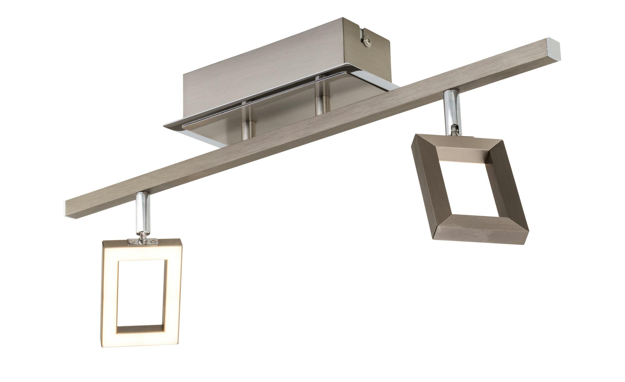 Paul Neuhaus LED-Deckenstrahler mit 2 quadratischen Spots ¦ silber ¦ Maße (cm): B: 53,5 Lampen & Leuchten > LED-Leuchten > LED-Strahler & Spots - Höffner