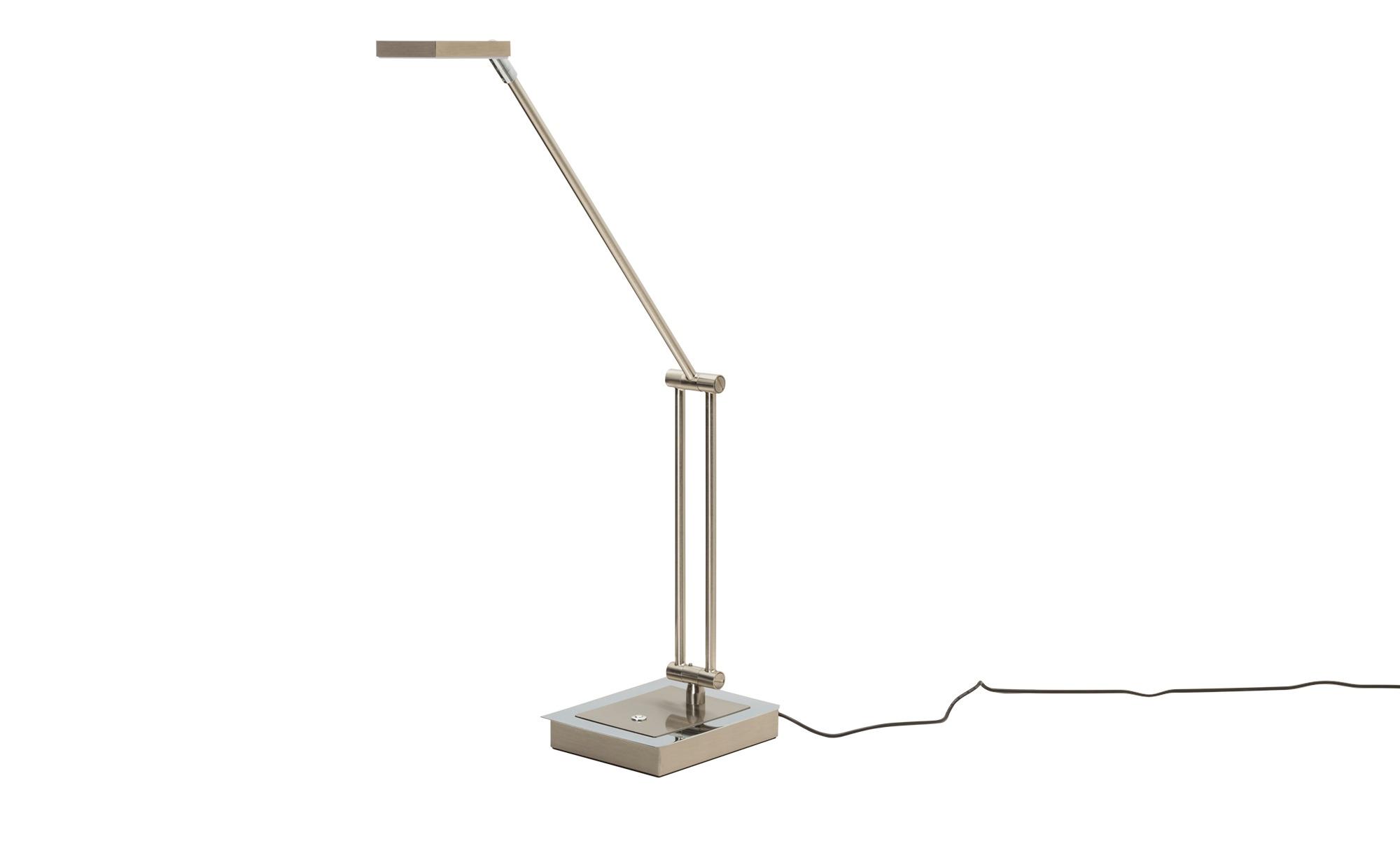 Paul Neuhaus LED-Tischleuchte nickel matt verstellbar ¦ silber ¦ Maße (cm): H: 75,5 Lampen & Leuchten > Innenleuchten > Tischlampen - Höffner