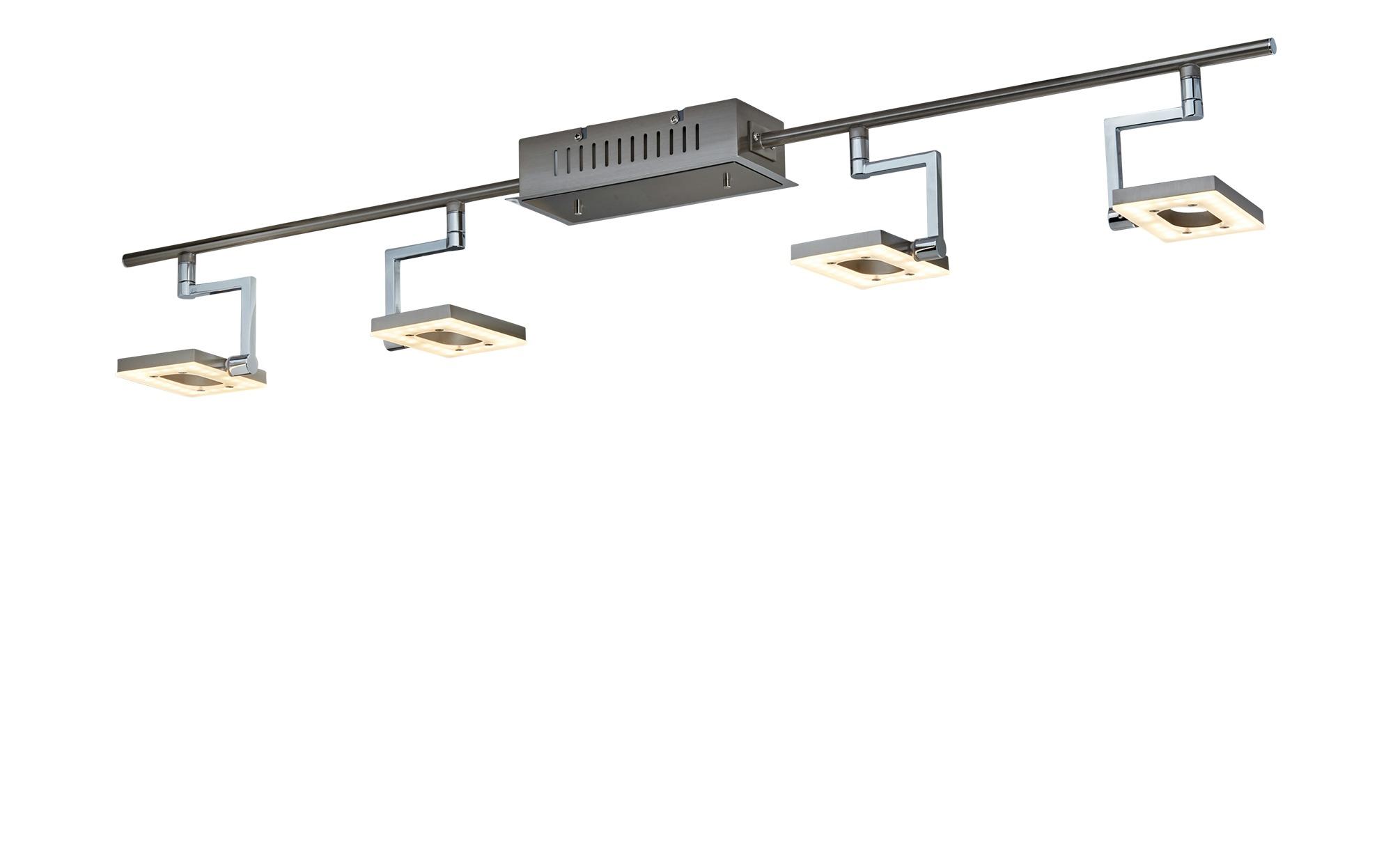 Fischer-Honsel LED- Strahler, 4-flammig, nickel matt, Kopf viereckig ¦ silber Lampen & Leuchten > LED-Leuchten > LED-Strahler & Spots - Höffner