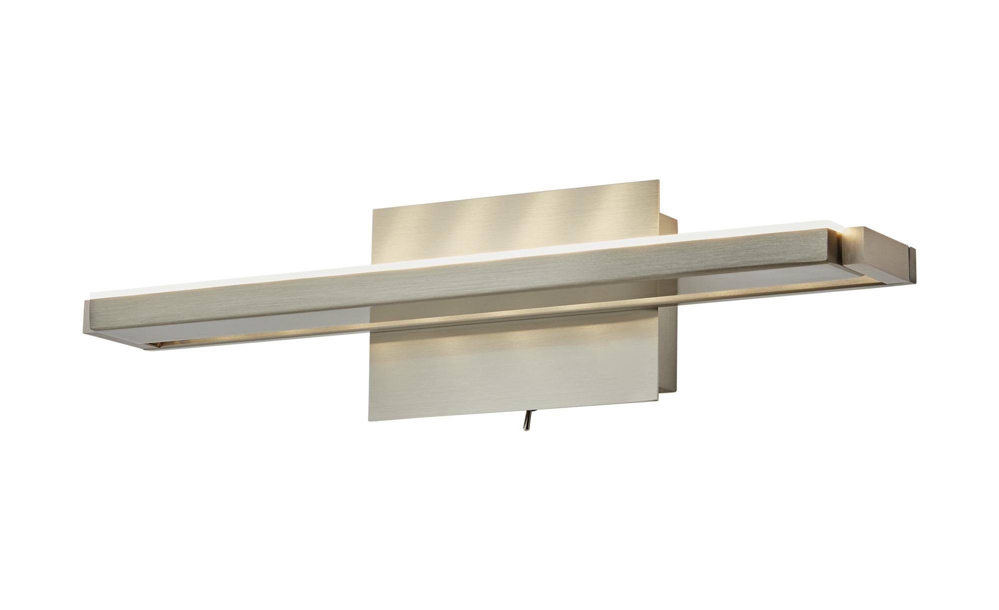 LED- Wandleuchte, 1-flammig, nickel matt, verstellbar ¦ silber ¦ Maße (cm): B: 37,5 Lampen & Leuchten > Innenleuchten > Wandleuchten - Höffner