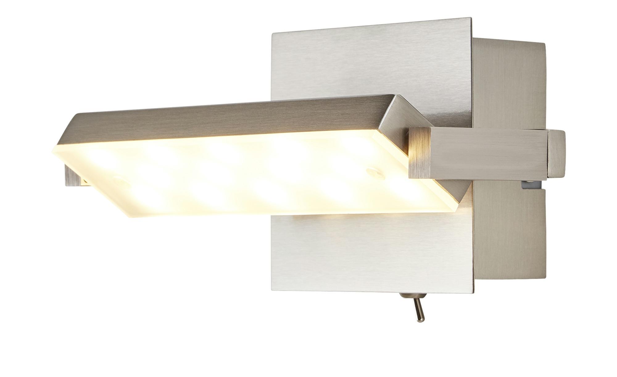 LED-Wandleuchte, 1-flammig, Nickel matt ¦ silber ¦ Maße (cm): B: 20 Lampen & Leuchten > Innenleuchten > Wandleuchten - Höffner