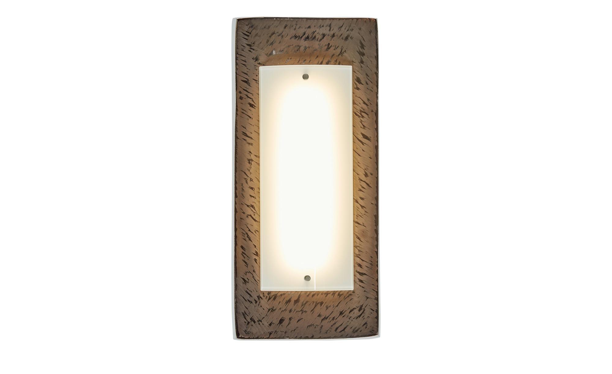 Fischer-Honsel LED- Wandleuchte, 1-flammig, dunkelbraun, gewölbt ¦ braun ¦ Maße (cm): B: 18,5 Lampen & Leuchten > Innenleuchten > Wandleuchten - Höffner