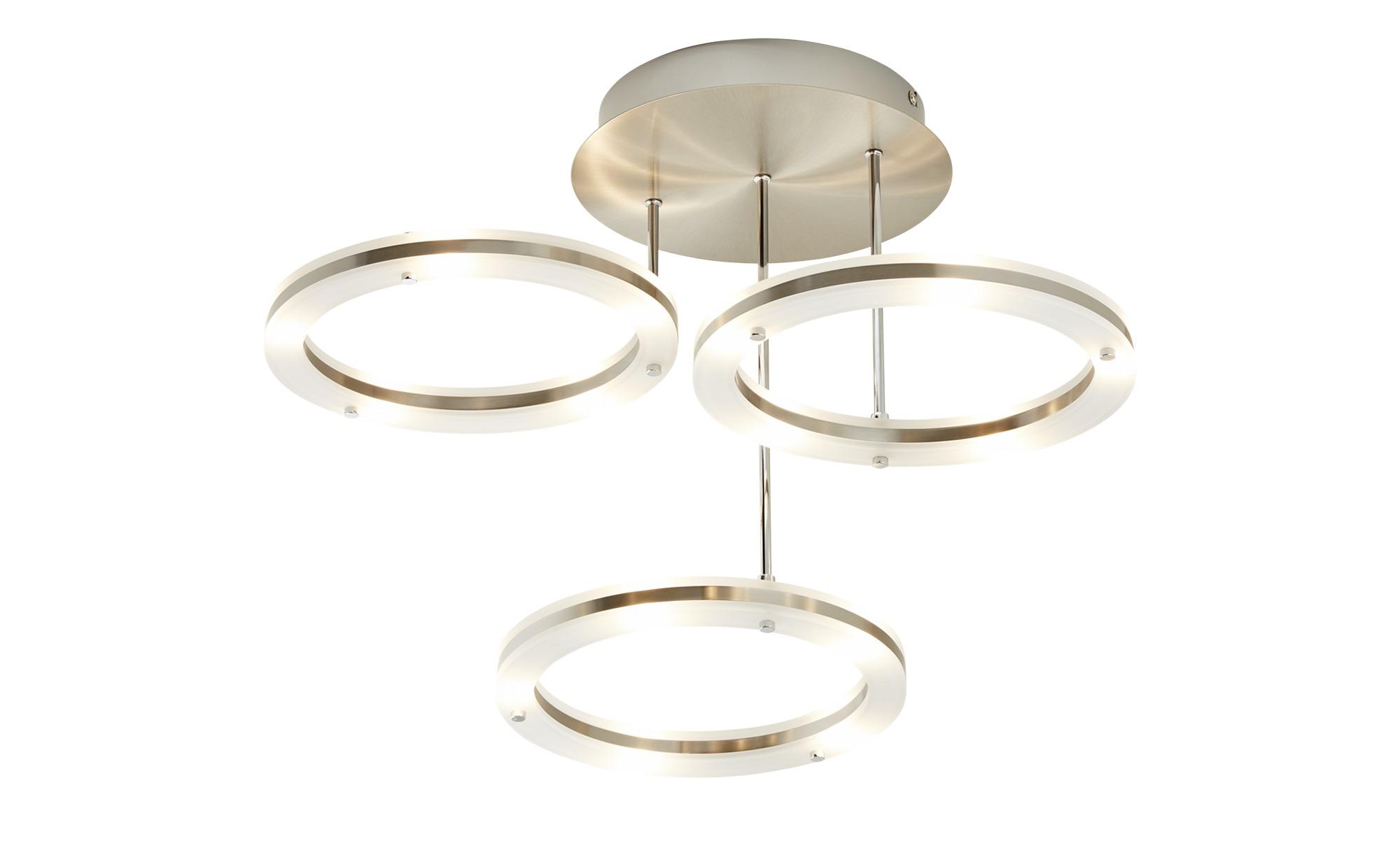 LED-Deckenleuchte, nickelmatt ¦ silber ¦ Maße (cm): H: 37 Ø: [55.0] Lampen & Leuchten > Innenleuchten > Deckenleuchten - Höffner