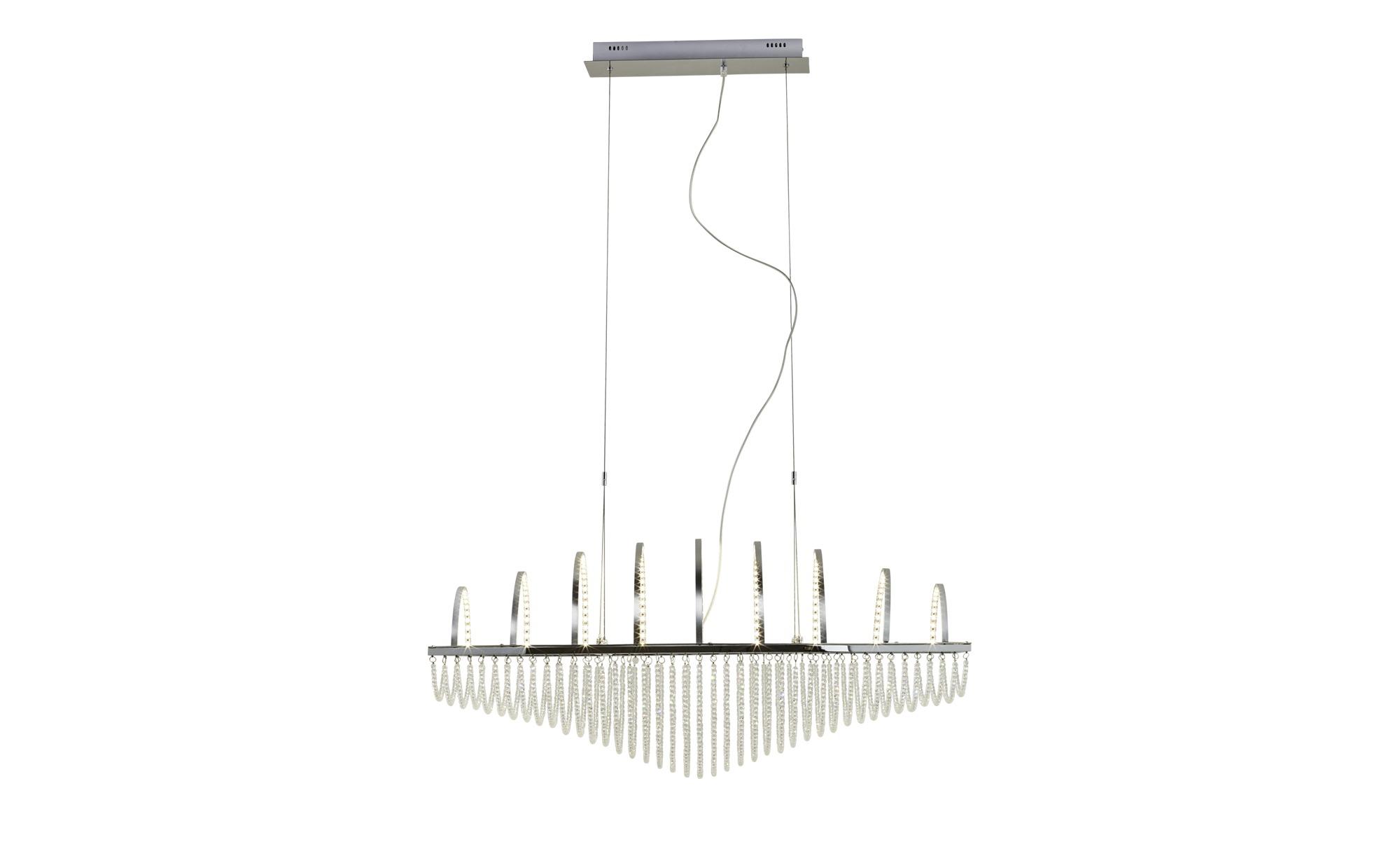 KHG LED- Pendelleuchte, mit Kristallbehang ¦ silber ¦ Maße (cm): B: 45 H: 150 Lampen & Leuchten > LED-Leuchten > LED-Pendelleuchten - Höffner