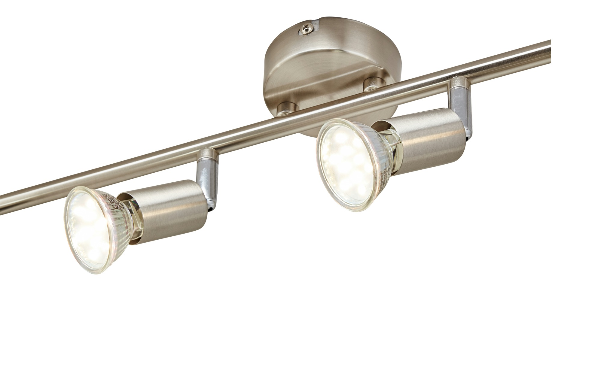 for friends LED- Deckenspot, 4-flammig, nickel matt ¦ silber ¦ Maße (cm): B: 8 H: 15,5 Lampen & Leuchten > LED-Leuchten > LED-Strahler & Spots - Höffner