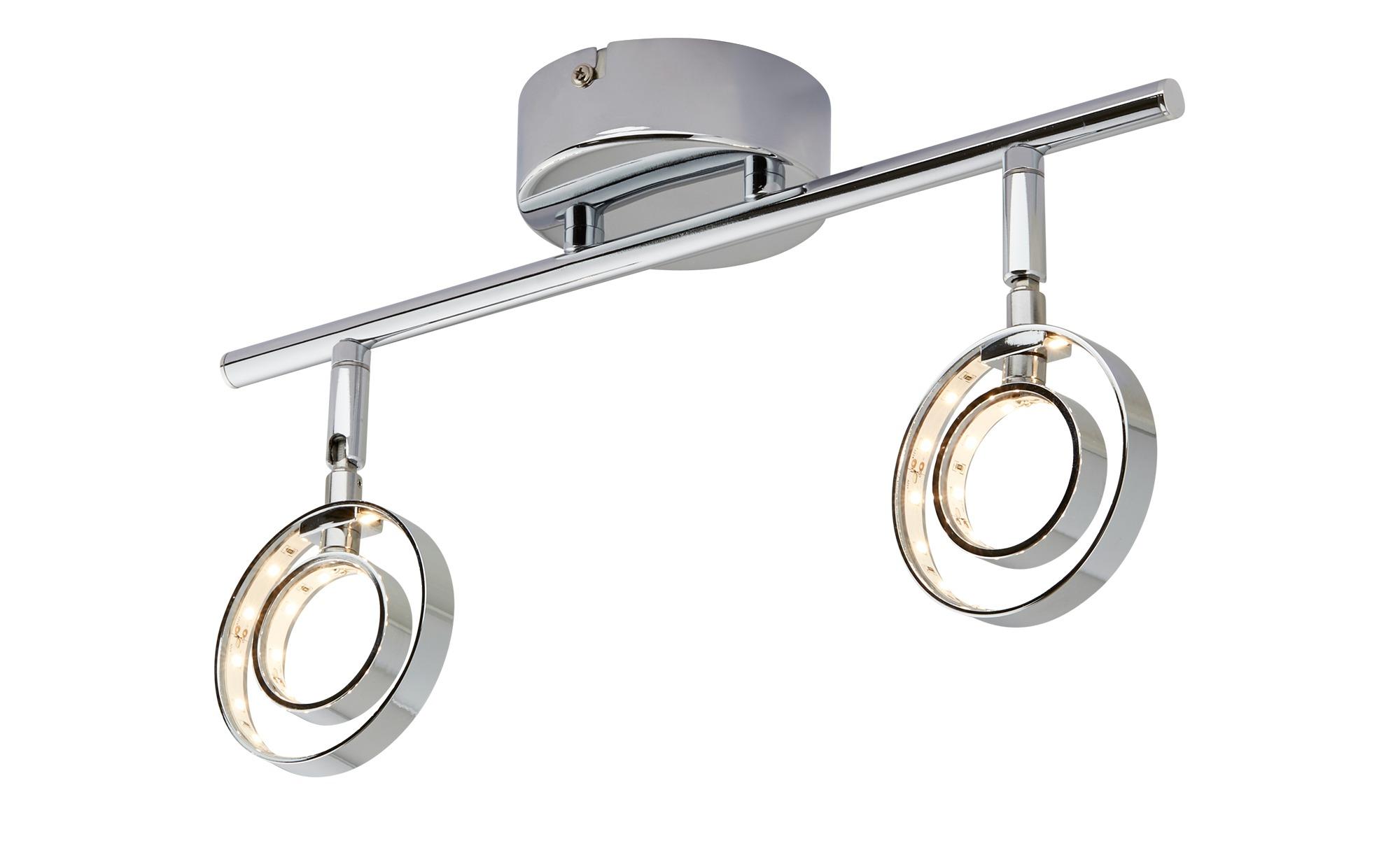 KHG LED- Deckenstrahler, 2-flammig, chrom ¦ silber ¦ Maße (cm): B: 36,5 H: 19,5 Lampen & Leuchten > LED-Leuchten > LED-Strahler & Spots - Höffner