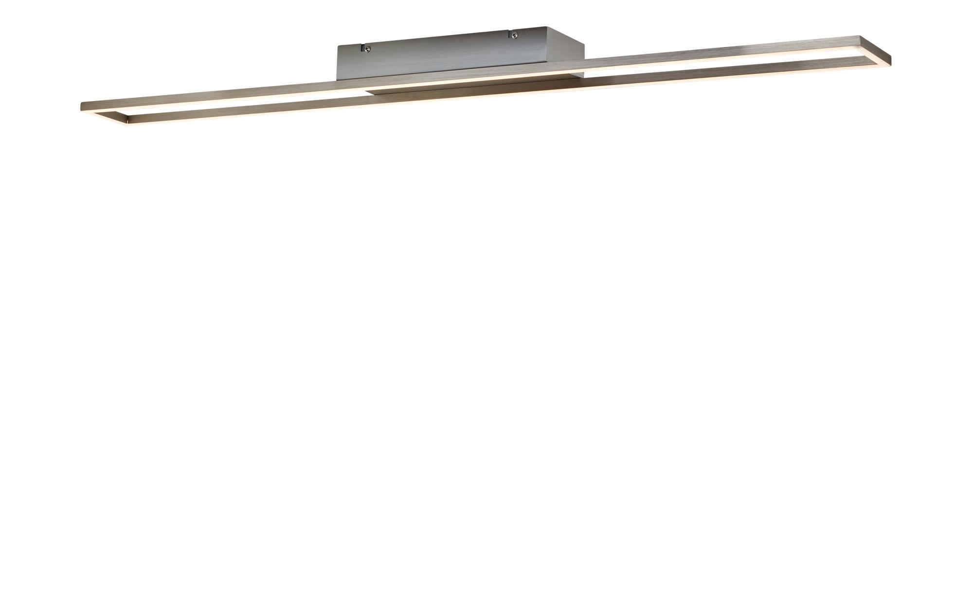 Paul Neuhaus LED- Deckenleuchte,1-flammig, nickel matt, rechteckig ¦ silber ¦ Maße (cm): B: 100 Lampen & Leuchten > Innenleuchten > Deckenleuchten - Höffner