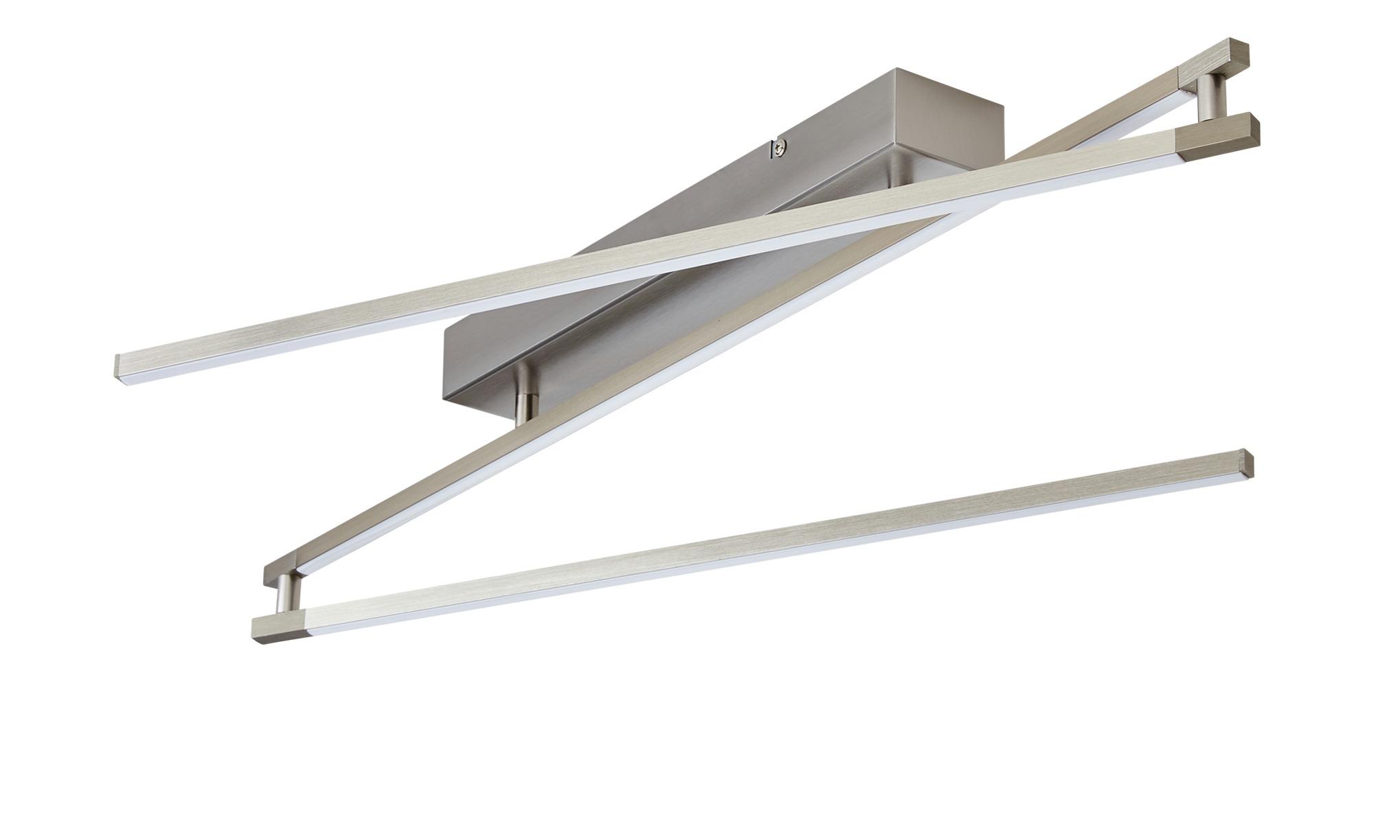 Paul Neuhaus LED- Deckenleuchte, 3-flammig, nickel matt, lineares Design ¦ silber Lampen & Leuchten > Innenleuchten > Deckenleuchten - Höffner