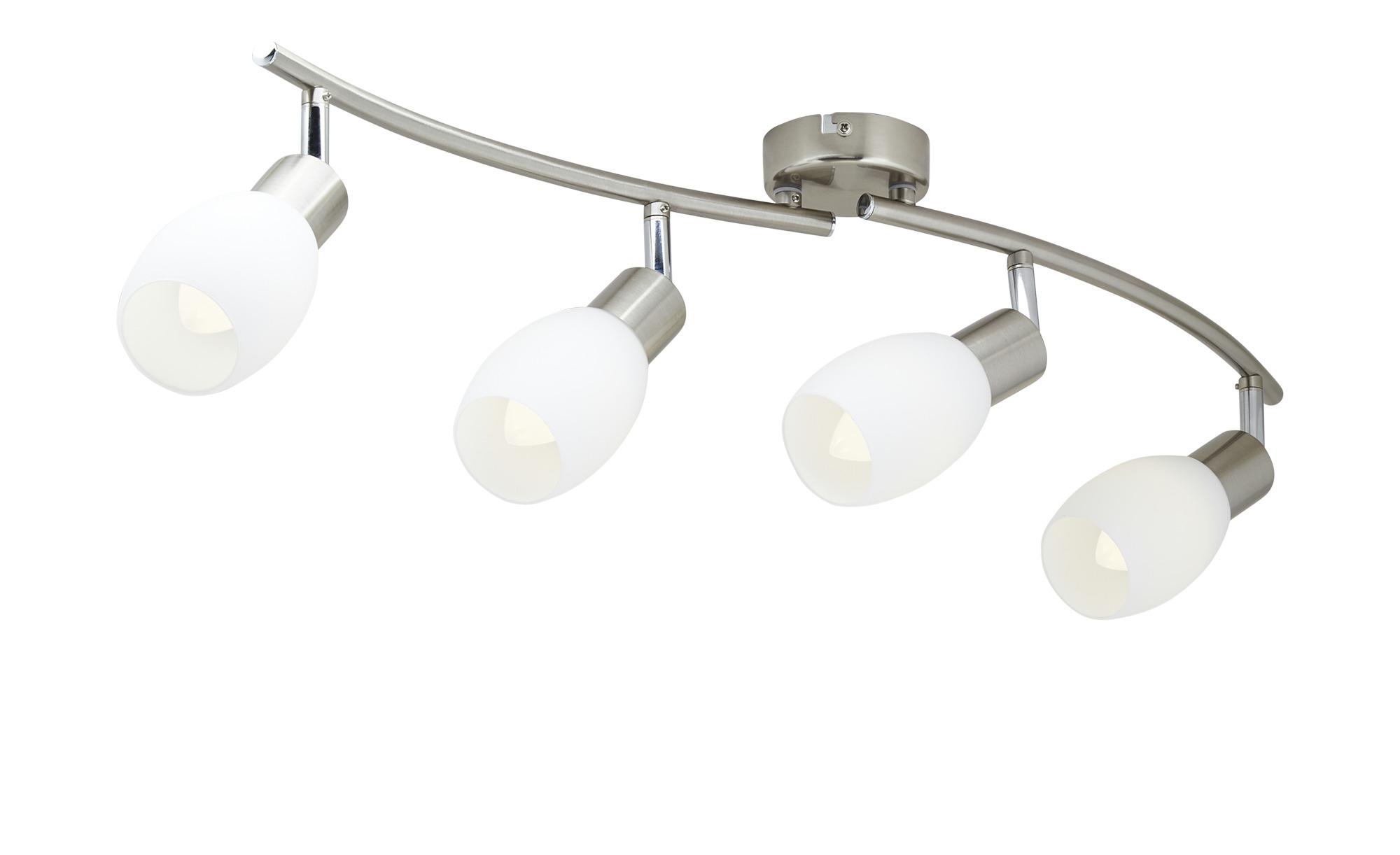 LED-Deckenstrahler, 4-flammig, Glas ¦ silber Lampen & Leuchten > LED-Leuchten > LED-Strahler & Spots - Höffner