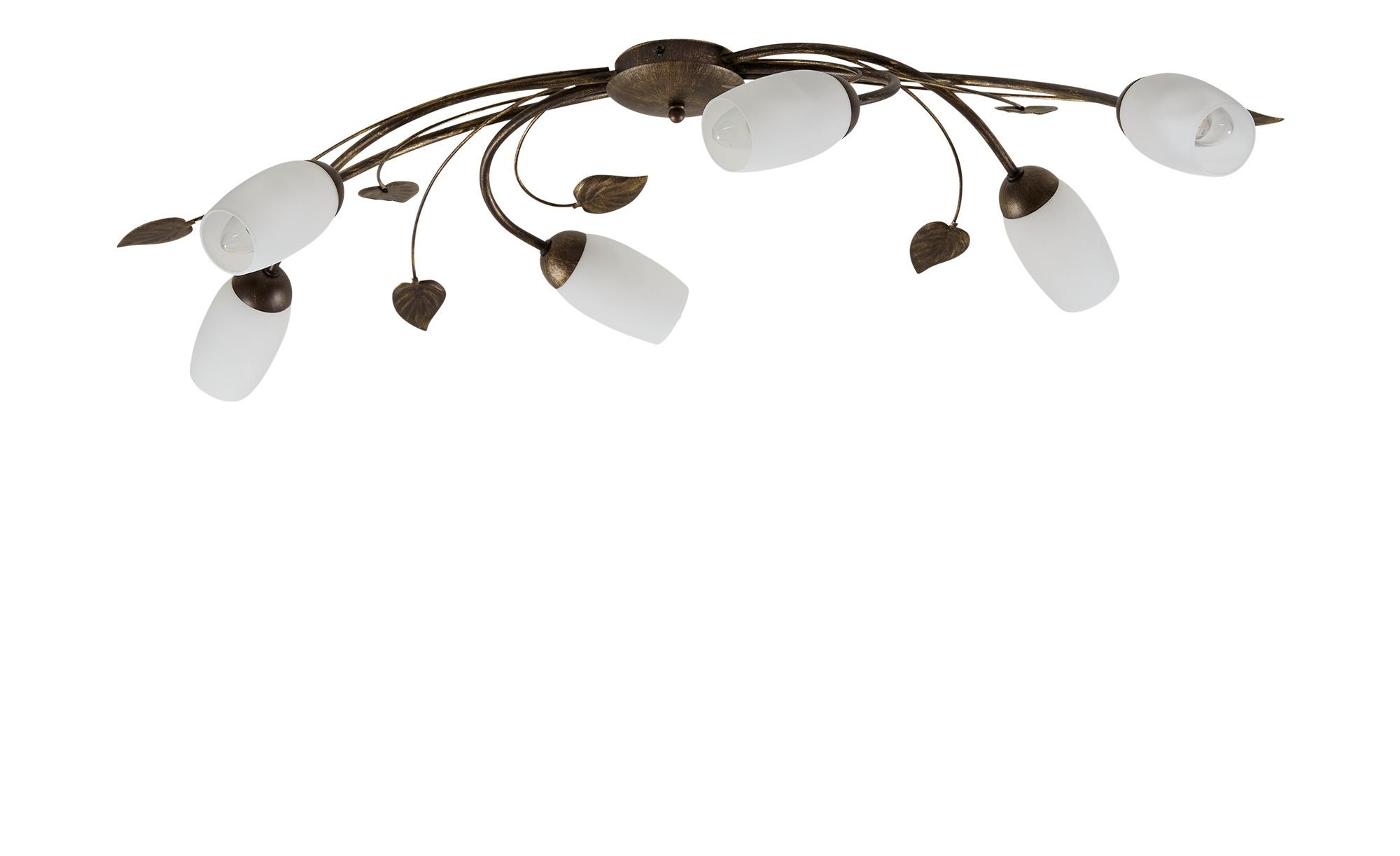 Deckenleuchte, 6-flammig, braun ¦ braun ¦ Maße (cm): B: 52 H: 12 Lampen & Leuchten > Innenleuchten > Deckenleuchten - Höffner