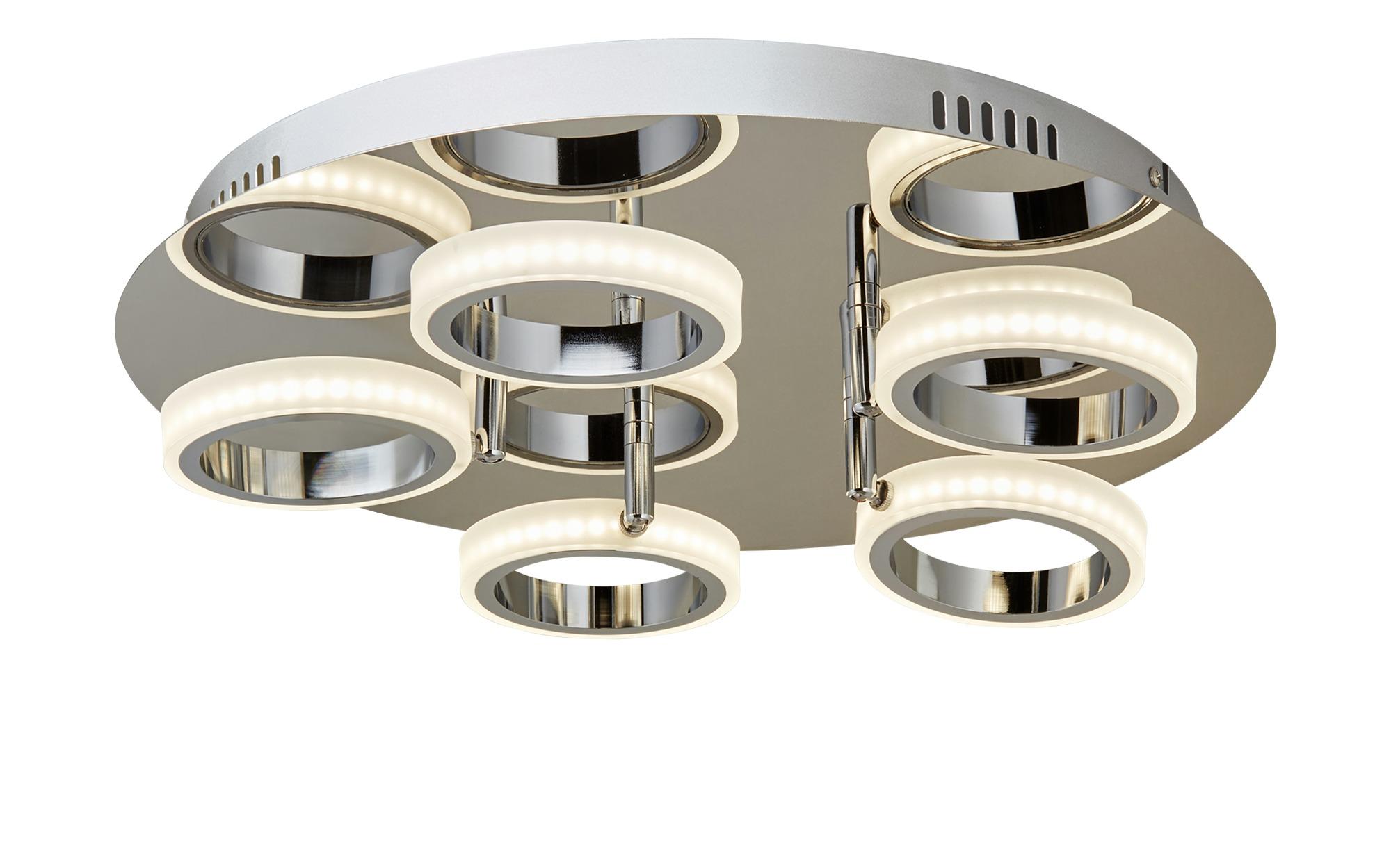 KHG LED-Deckenleuchte mit Acrylringen ¦ silber ¦ Maße (cm): H: 10 Ø: [45.0] Lampen & Leuchten > Innenleuchten > Deckenleuchten - Höffner