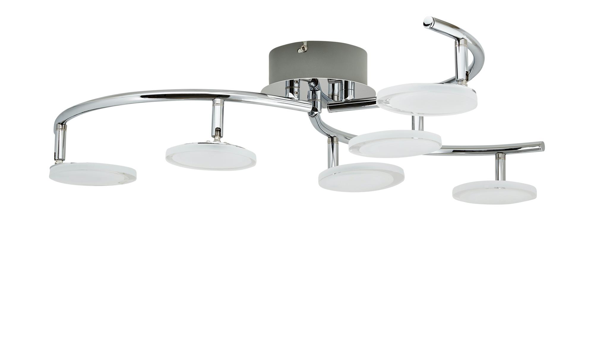 KHG LED-Deckenleuchte Acrylglas ¦ silber ¦ Maße (cm): H: 19,5 Ø: 65 Lampen & Leuchten > Innenleuchten > Deckenleuchten - Höffner
