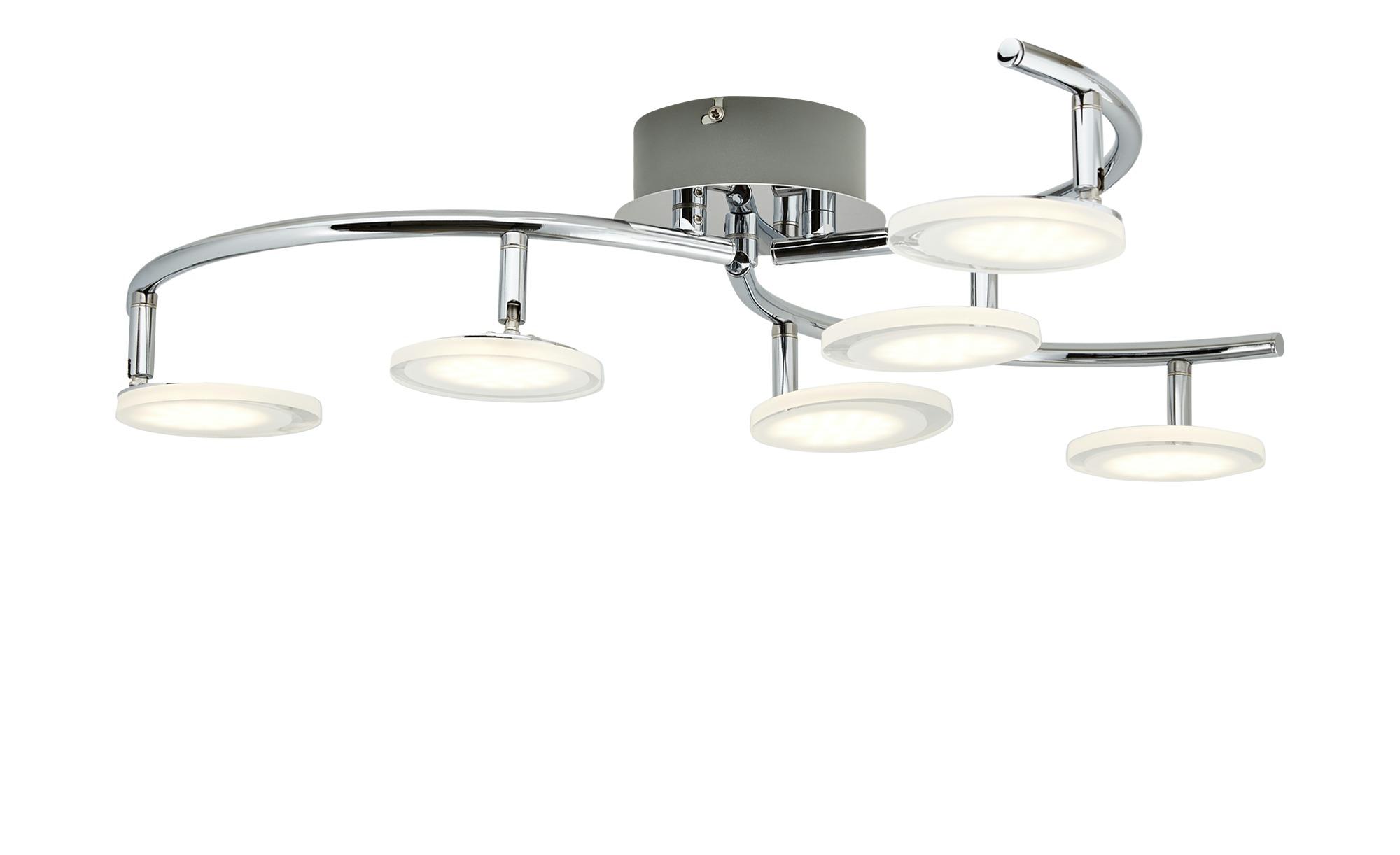 KHG LED-Deckenleuchte Acrylglas ¦ silber ¦ Maße (cm): H: 19,5 Ø: [65.0] Lampen & Leuchten > Innenleuchten > Deckenleuchten - Höffner