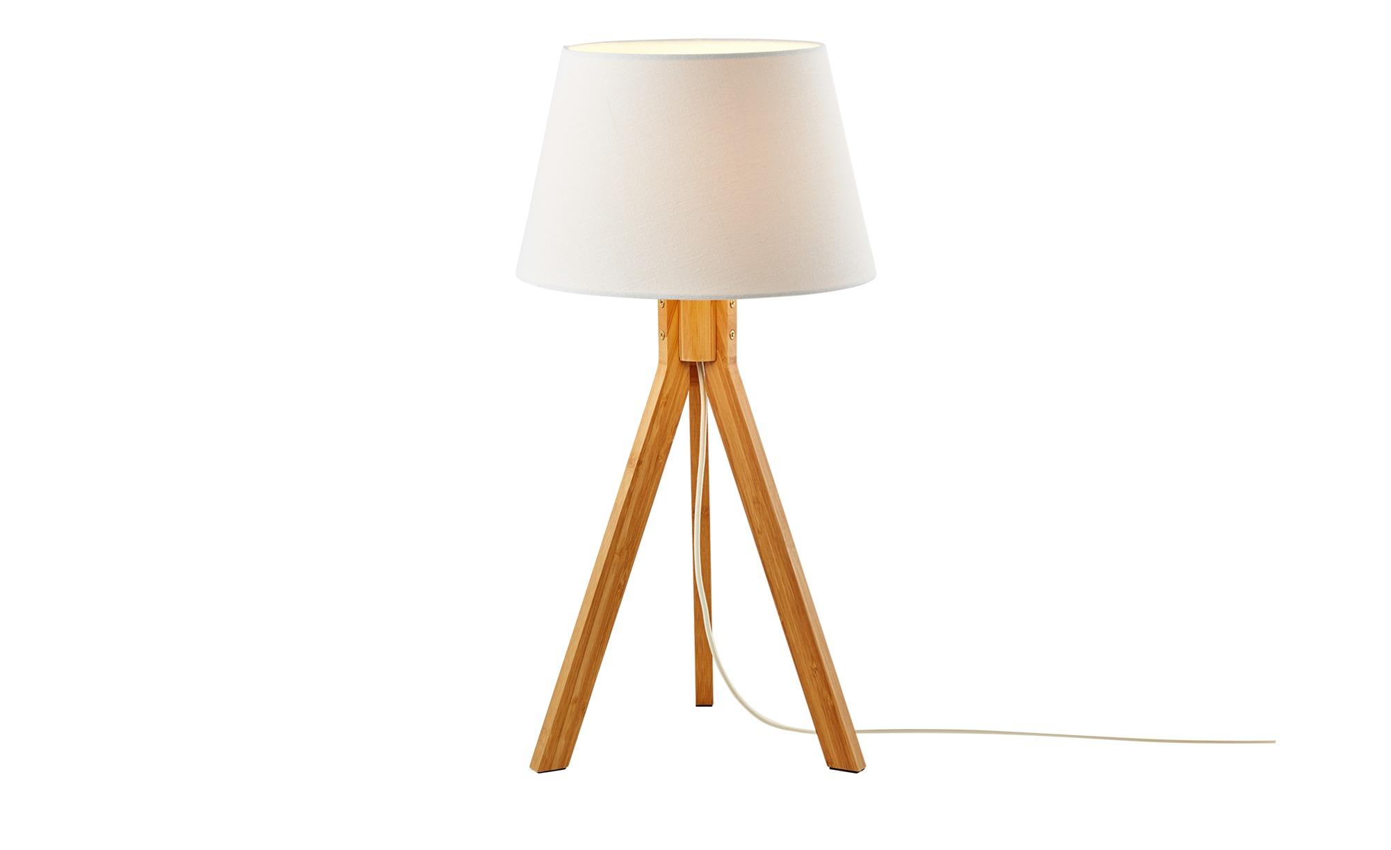 HOME STORY 3-Bein Tischleuchte, 1-flammig ¦ holzfarben ¦ Maße (cm): H: 55 Ø: [28.0] Lampen & Leuchten > Innenleuchten > Tischlampen - Höffner